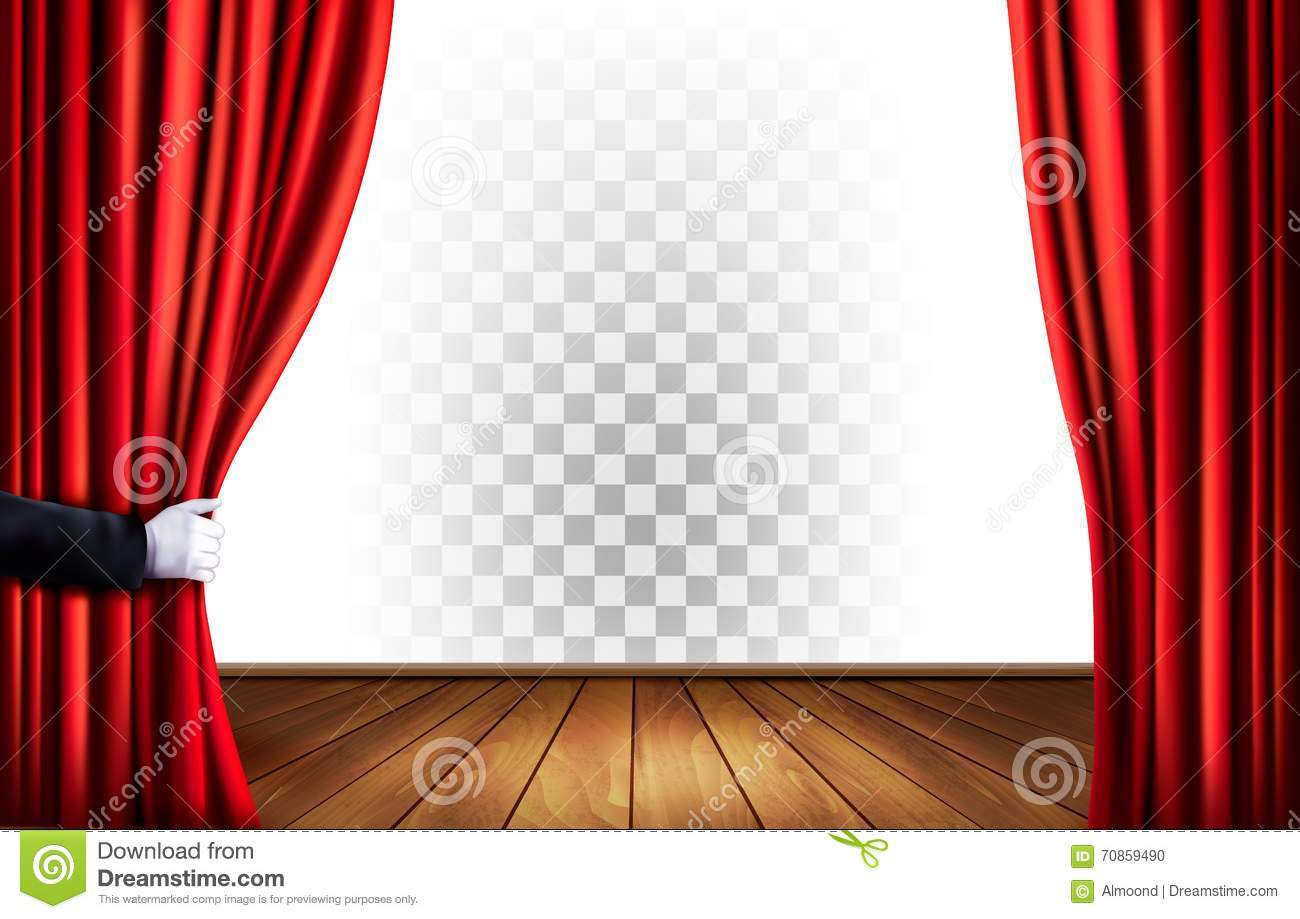 free royalty vectorstock curtains drapes stage vector theater image red
