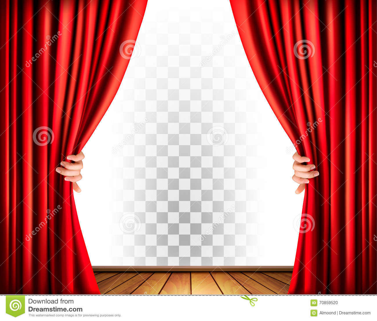 Theatre curtains png - Real Open Stage Curtains Theater Curtains With A Transparent Background
