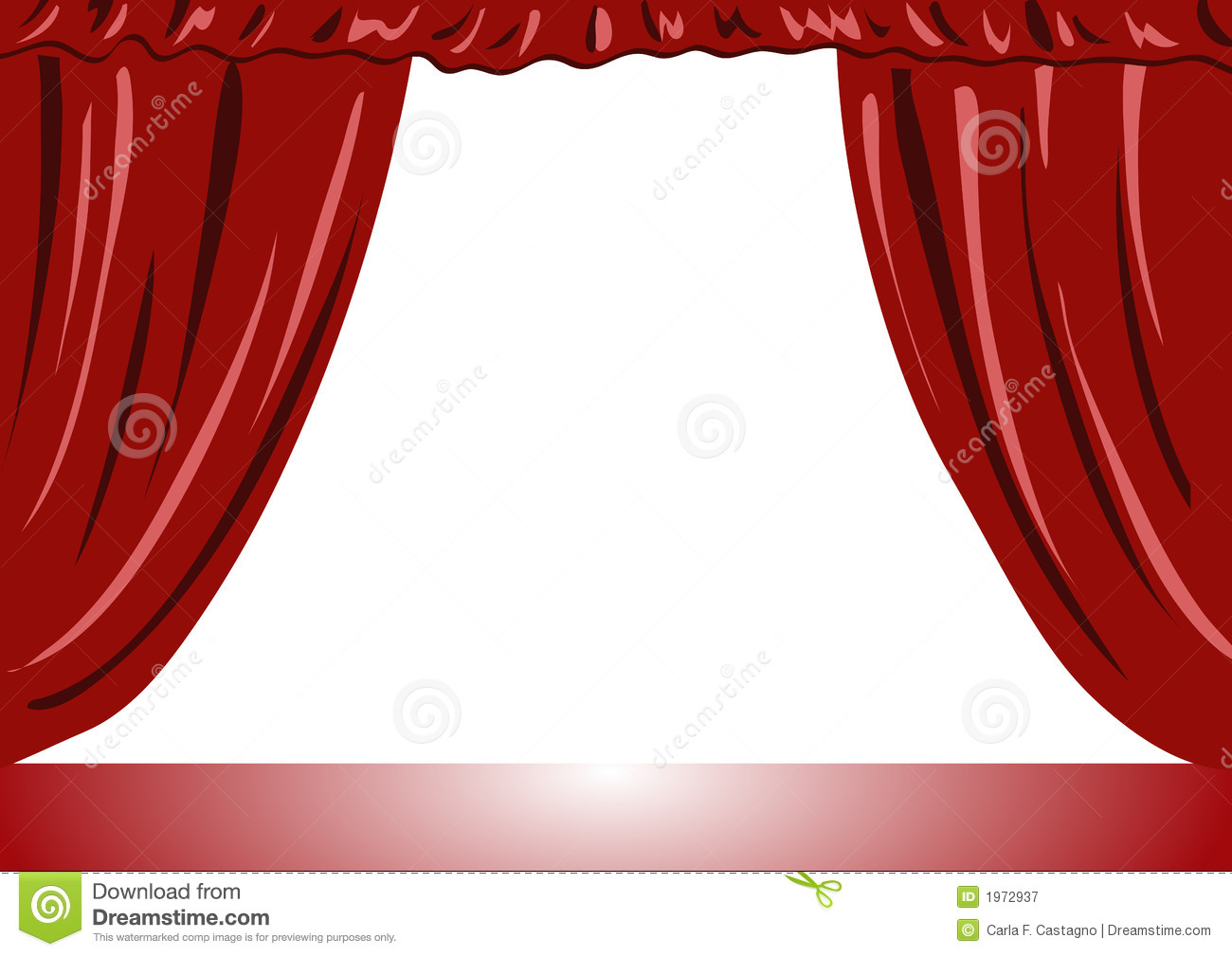 Theater Curtains Vector Illustration Stock Vector