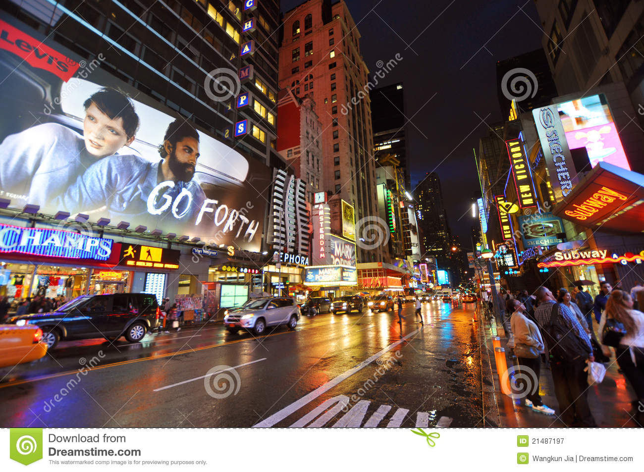 Theater District Manhattan New York City Editorial Photography Image 214