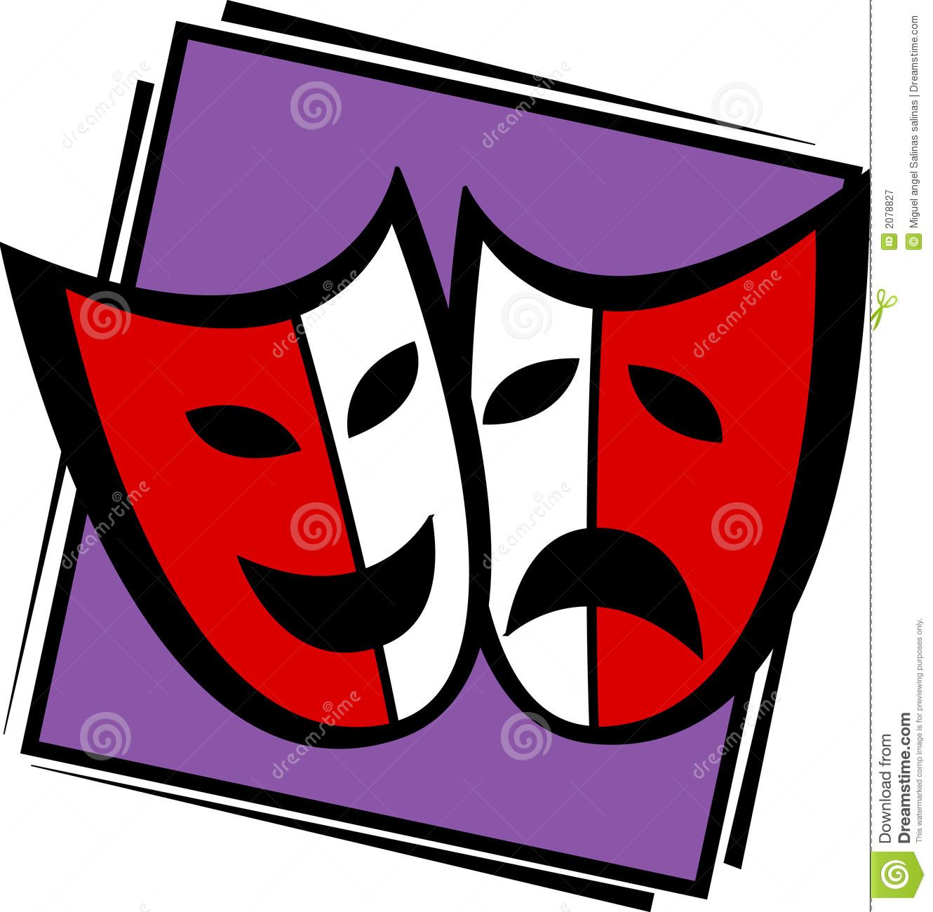 Drama Faces Vector Theater drama masks vector