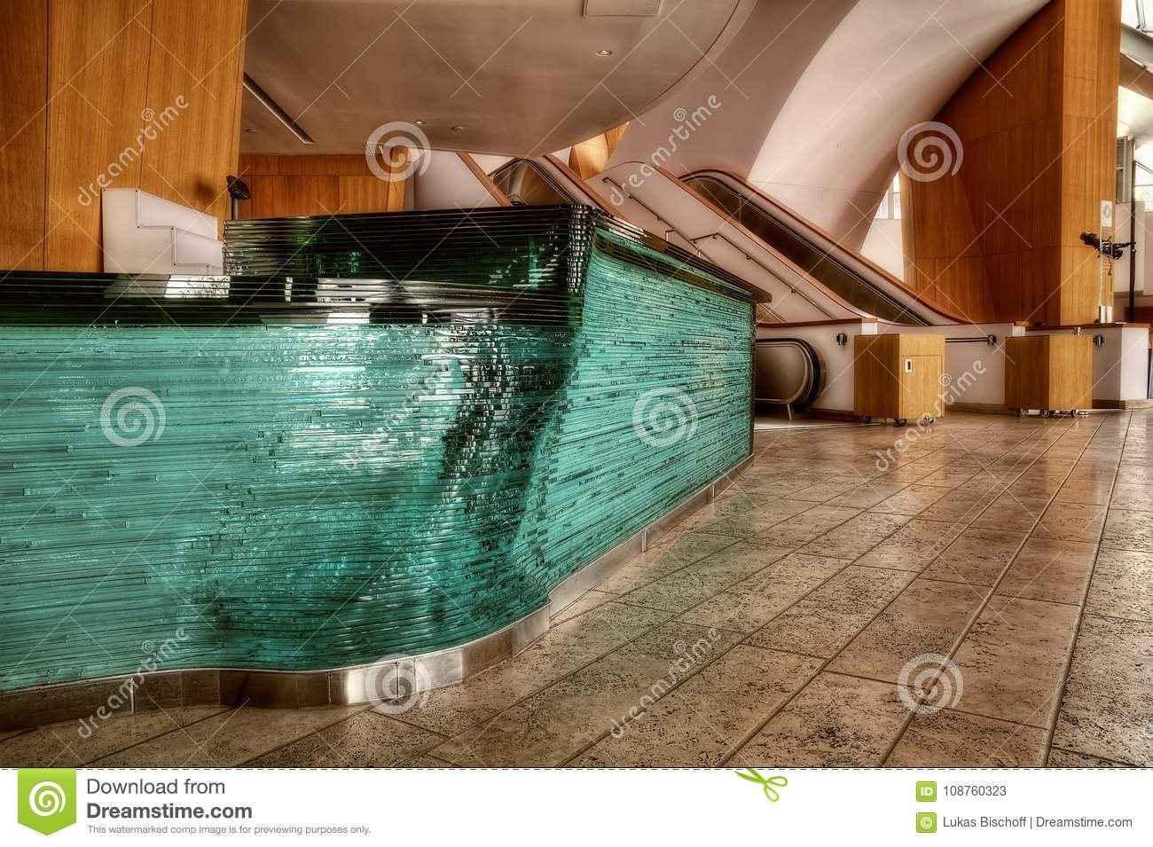 Theater Lobby with Glass Counter
