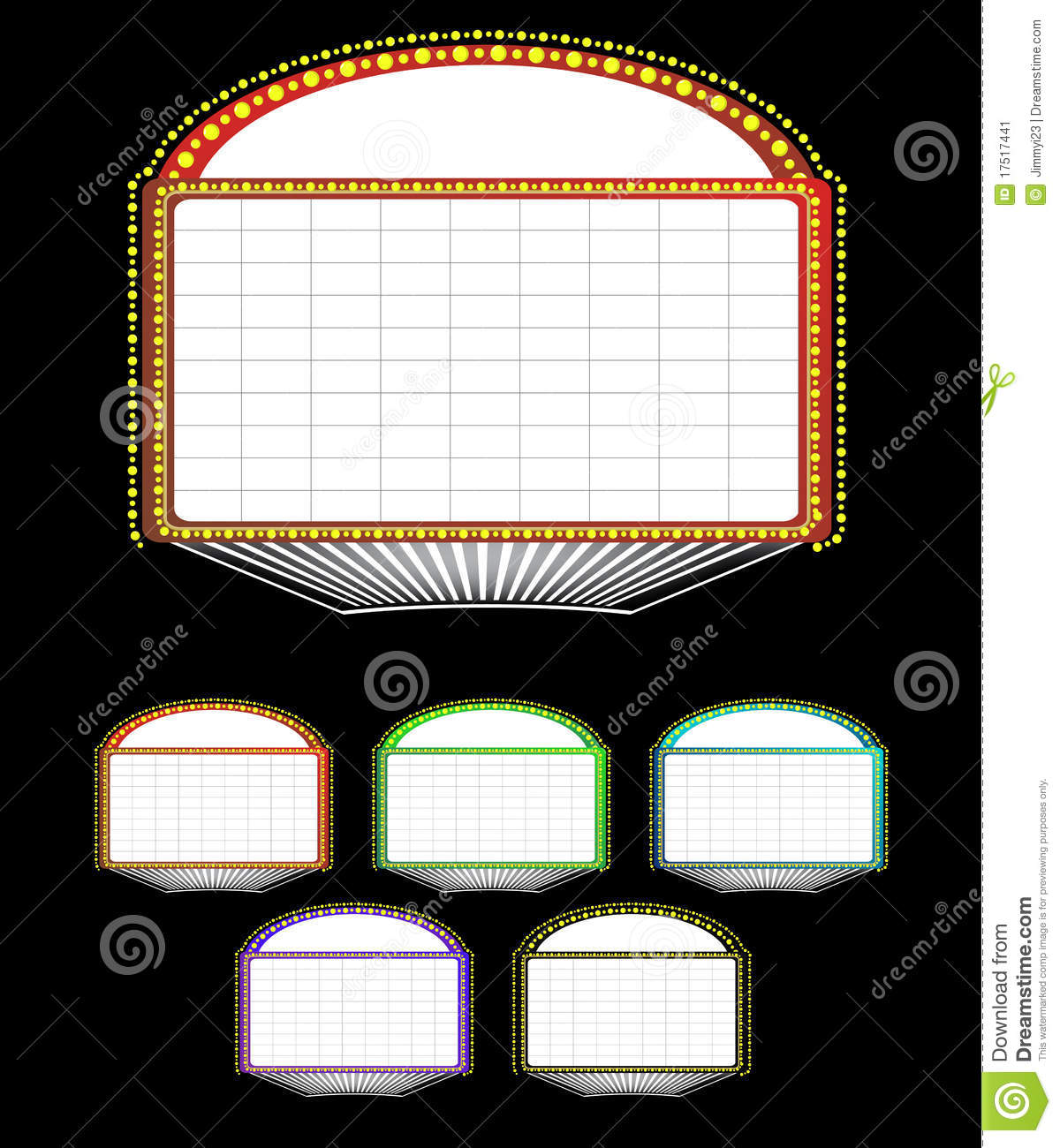 Light Up Theater: Theater Marquee Sign Stock Vector. Image Of Drama