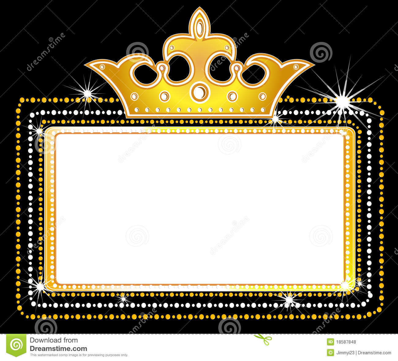 Download Theater Marquee Sign Stock Vector Illustration Of Crown