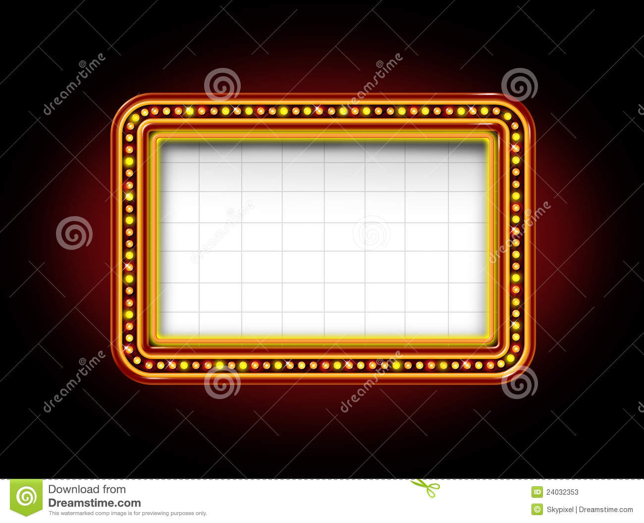 Theater Marquee Sign Stock Photos - Image: 24032353