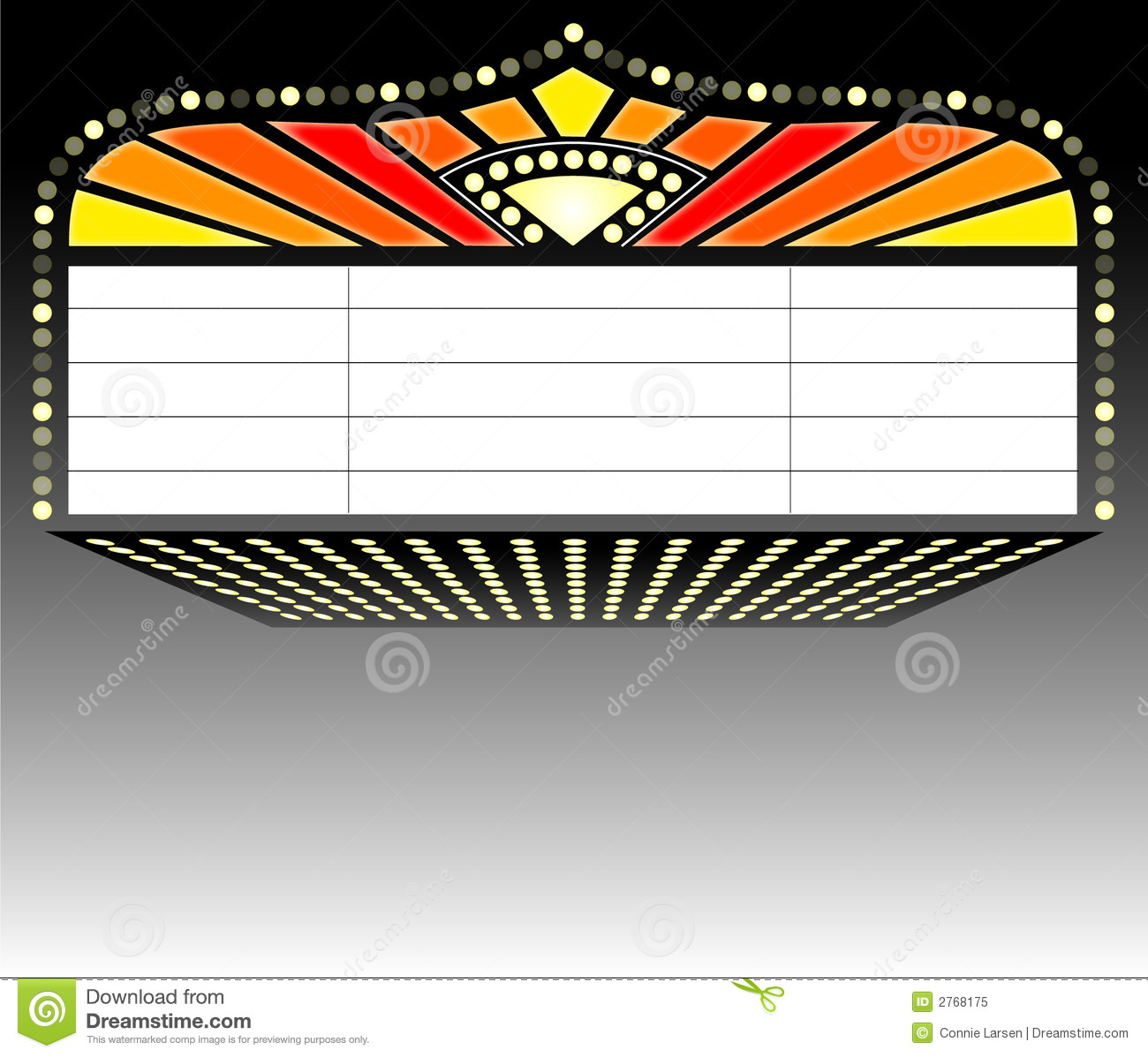 Broadway Lights Border Clipart Theater Marquee Signai