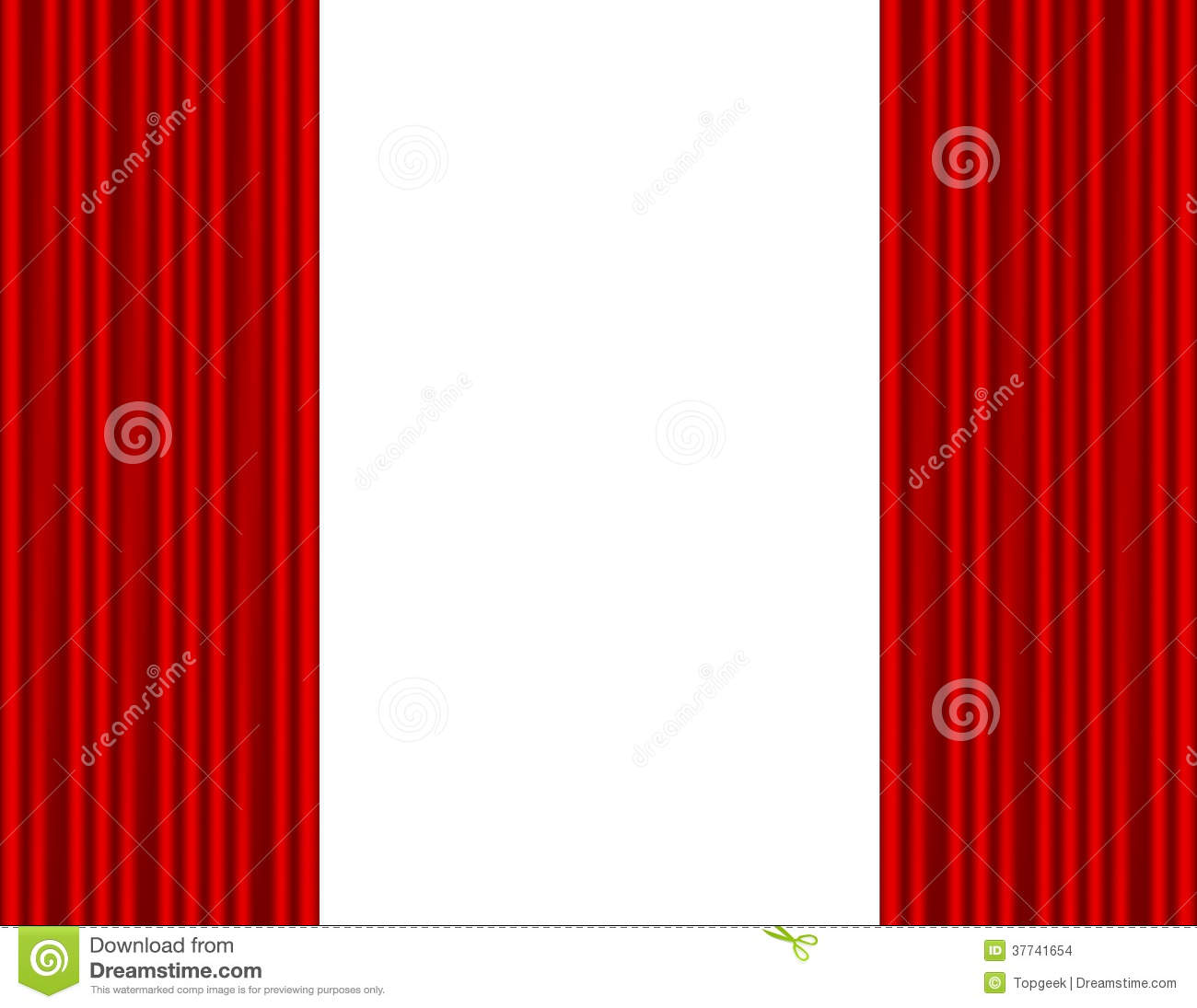Theater stage with red curtain white background this is file of eps10