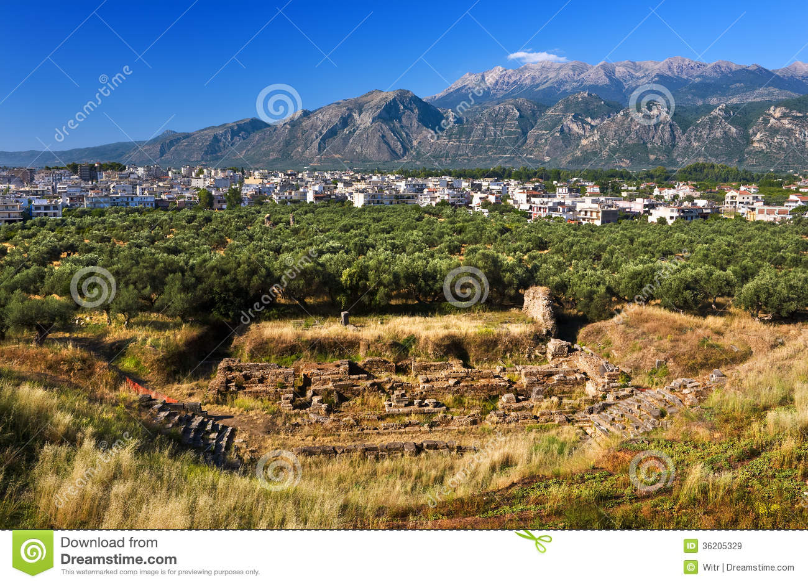 Theater van oude Sparta, Griekenland
