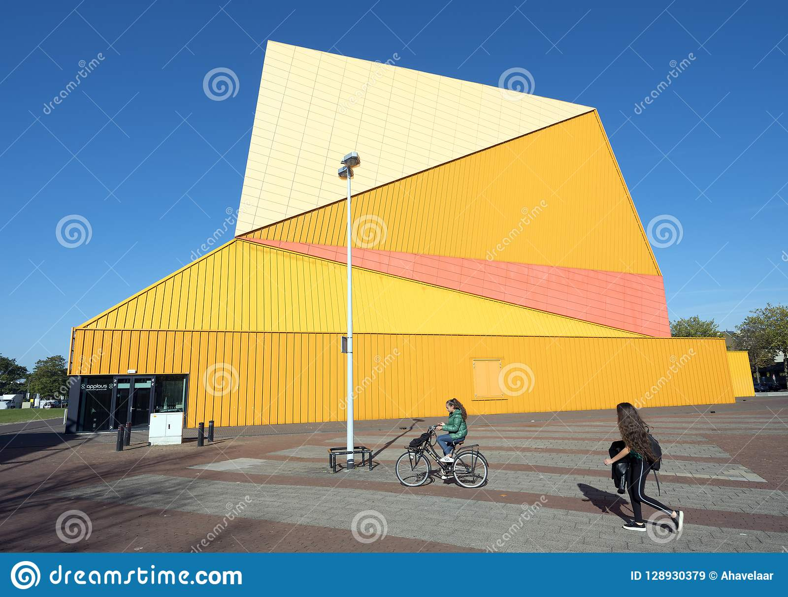 Lelystad, Netherlands, 10 oktober 2018: theatre agora in centre of dutch  town lelystad in province of flevoland in the netherlands