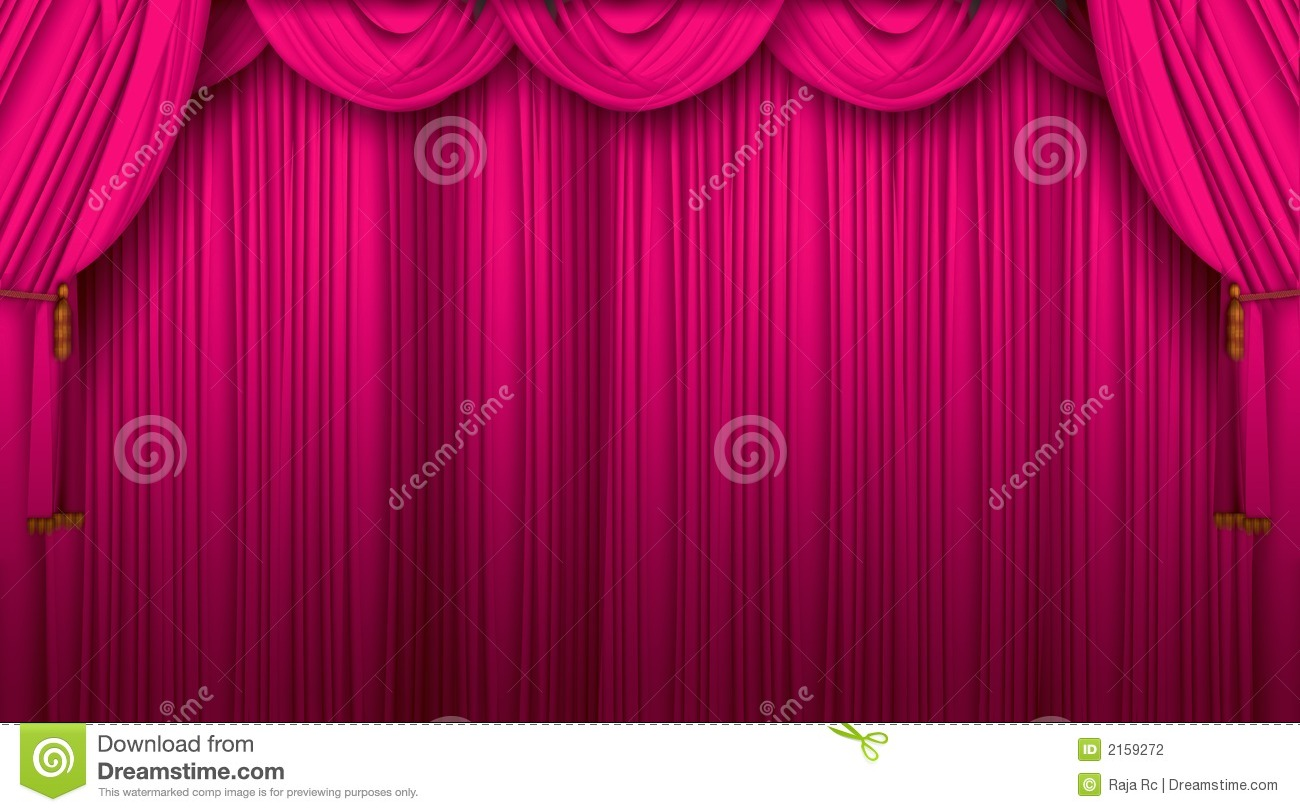 Pink Stage Curtains Background