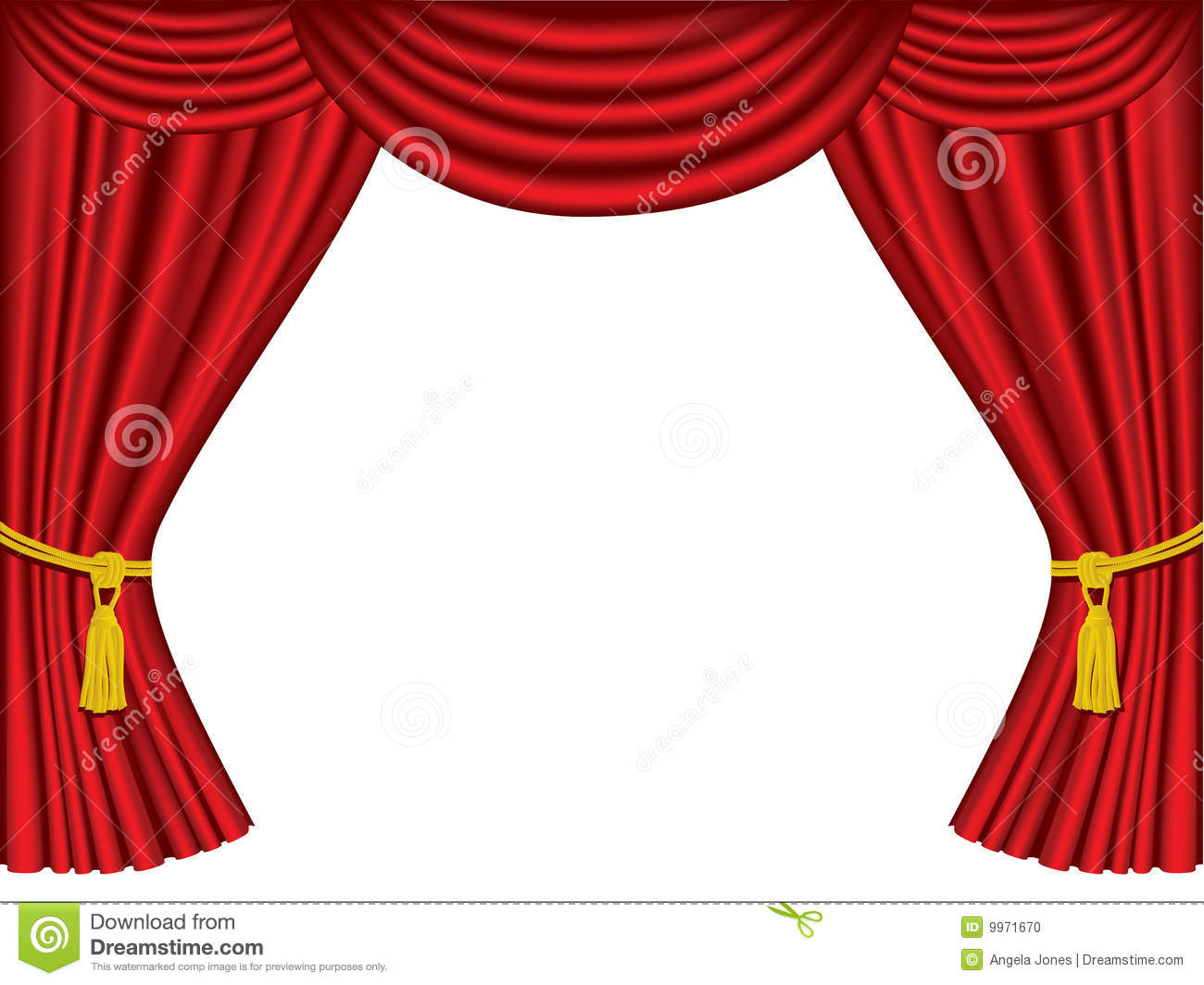 Theatre Curtains With Copy Space Stock Vector
