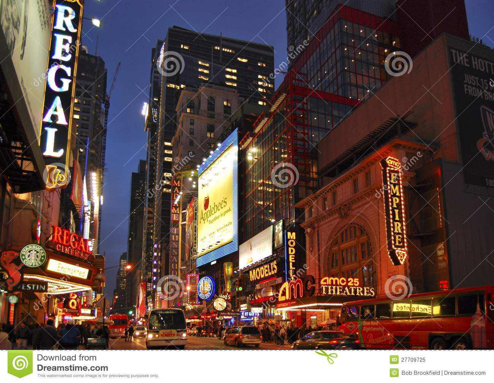 Theater District Manhattan New York City Editorial Photo