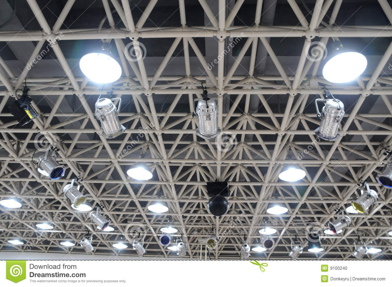 The Theatre Hall Ceiling Lamps Stock Photo Image Of Lighting