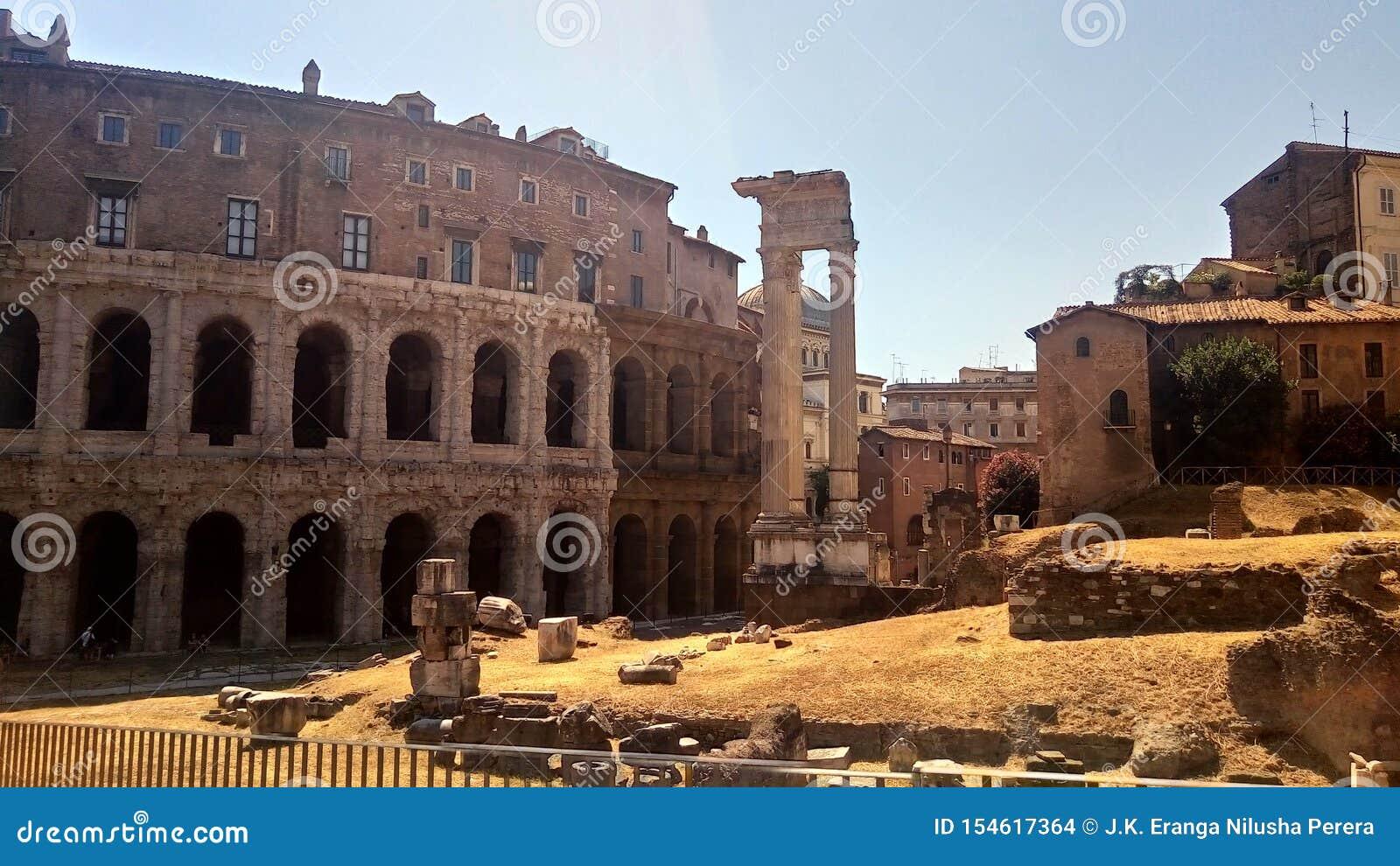 Theatre of Marcellus and Temple of Appolo Medicus Sosianus