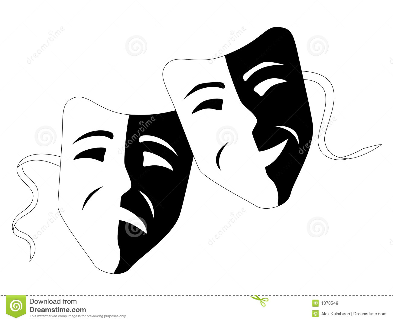 ... Masks (Tragedy Comedy) Royalty Free Stock Photos - Image: 1370548