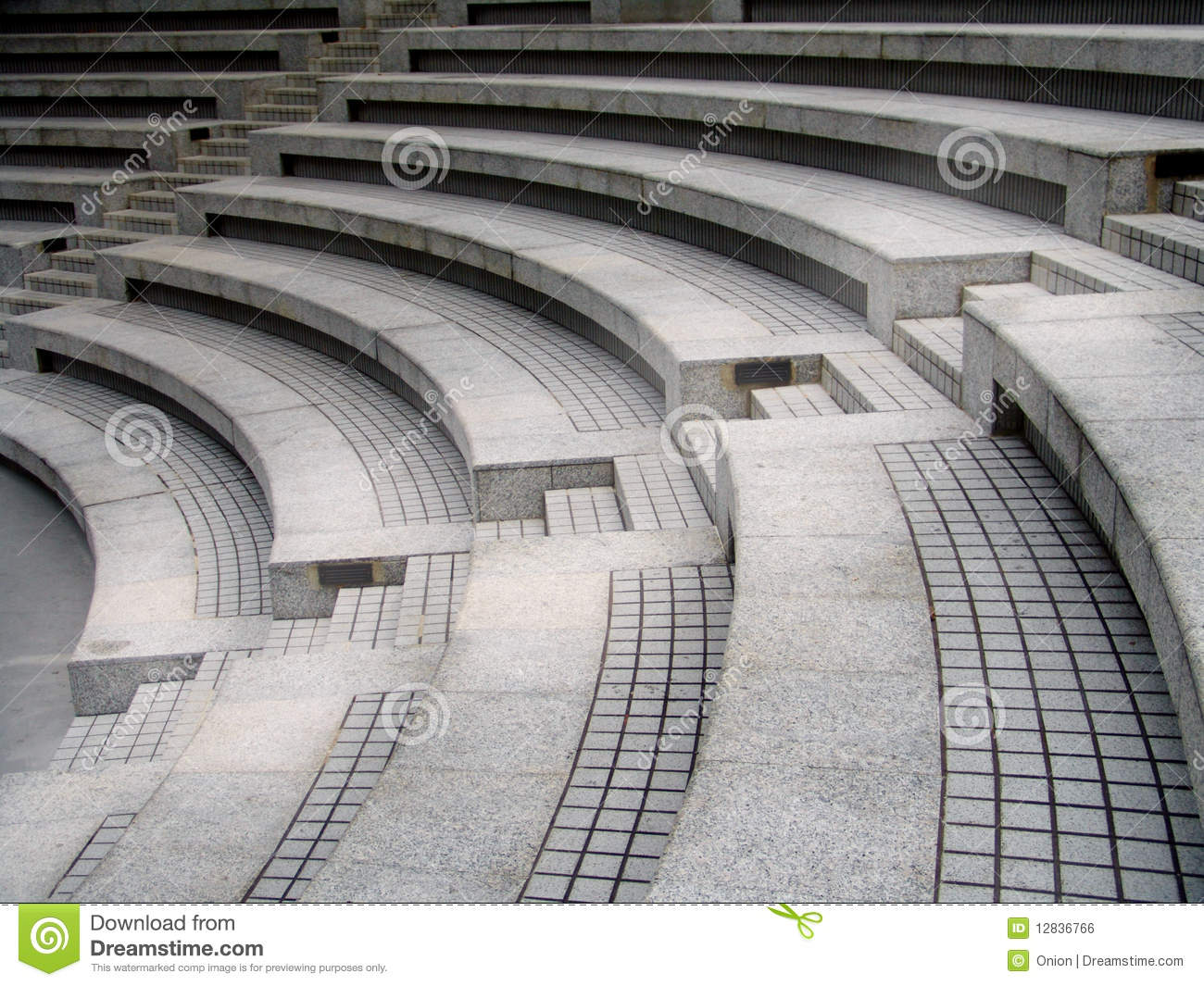 Theatre Seats With Stairs Stock Photo Image Of High