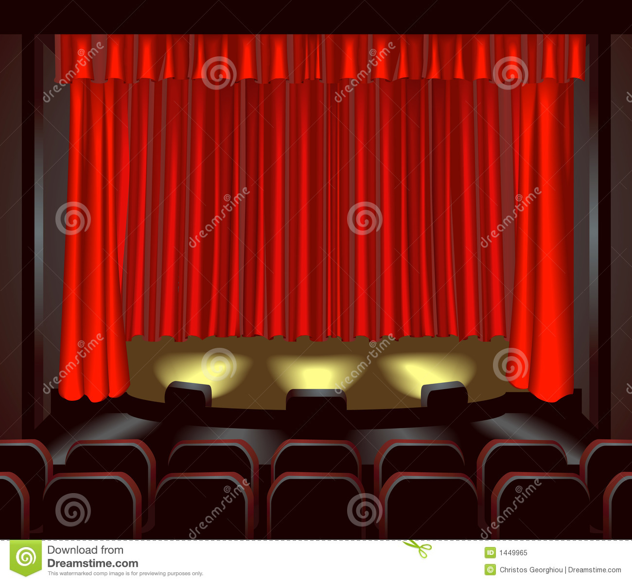 Theatre Stage Royalty Free Stock Photo Image 1449965