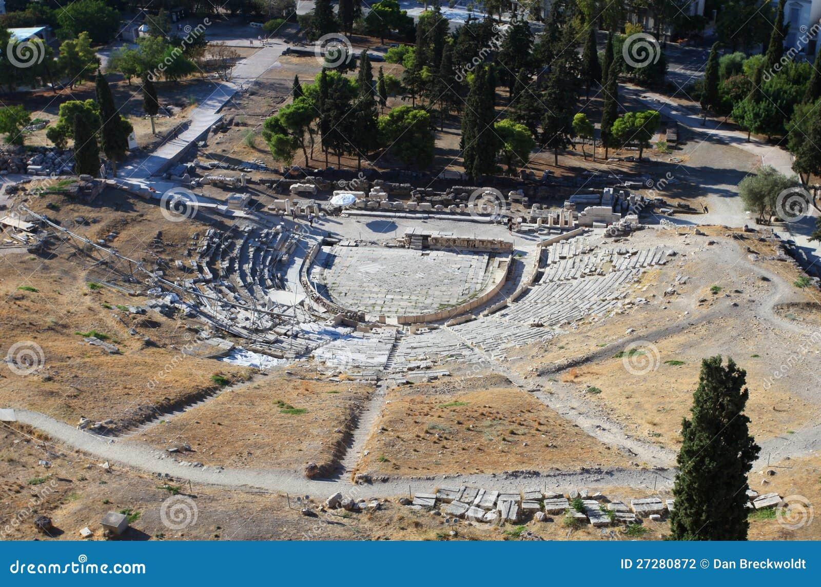 Theatren av Dionysus i Athens