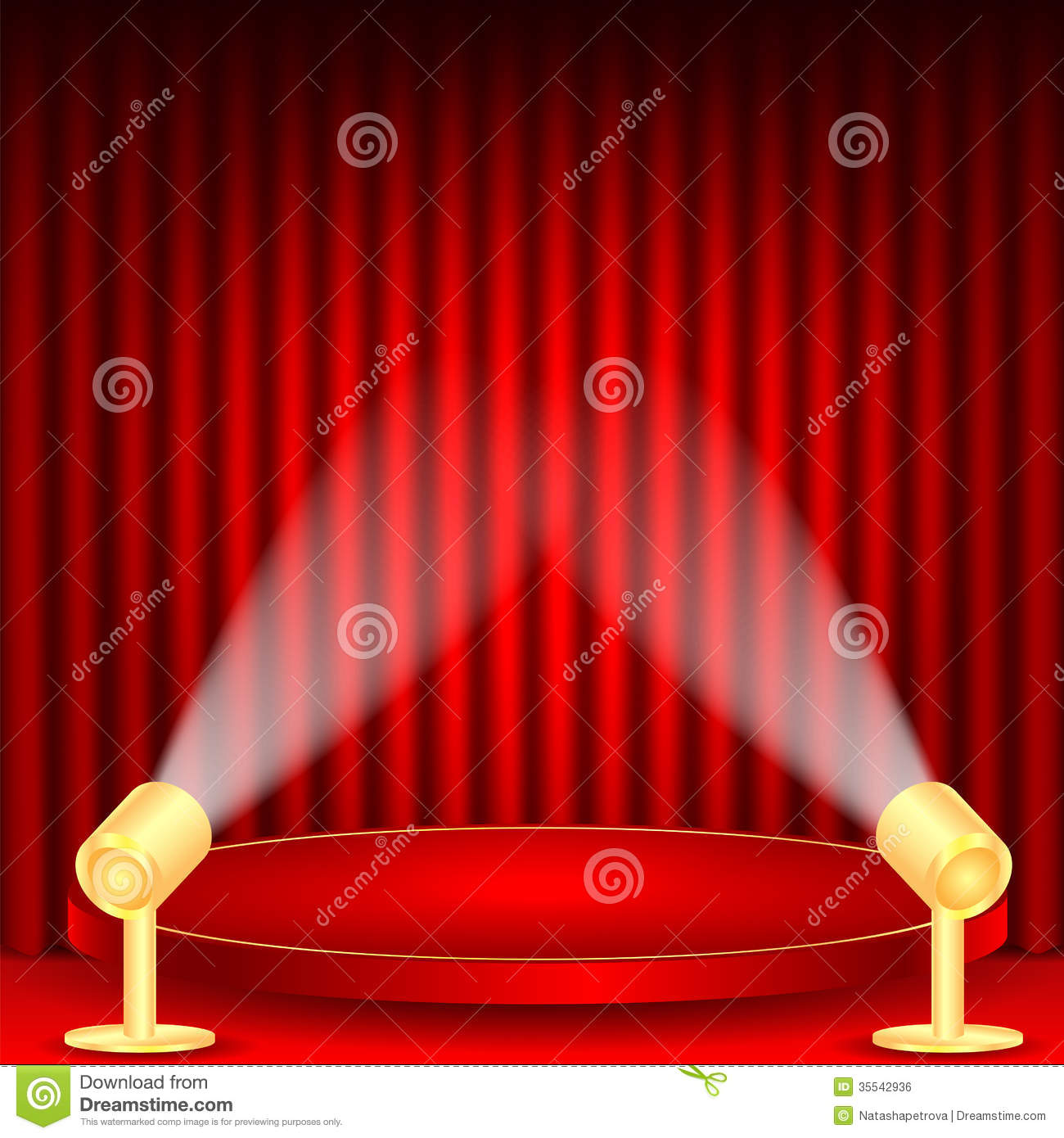 ... curtains-scene-illuminated-floodlights-red-podium-red-drape-curtains