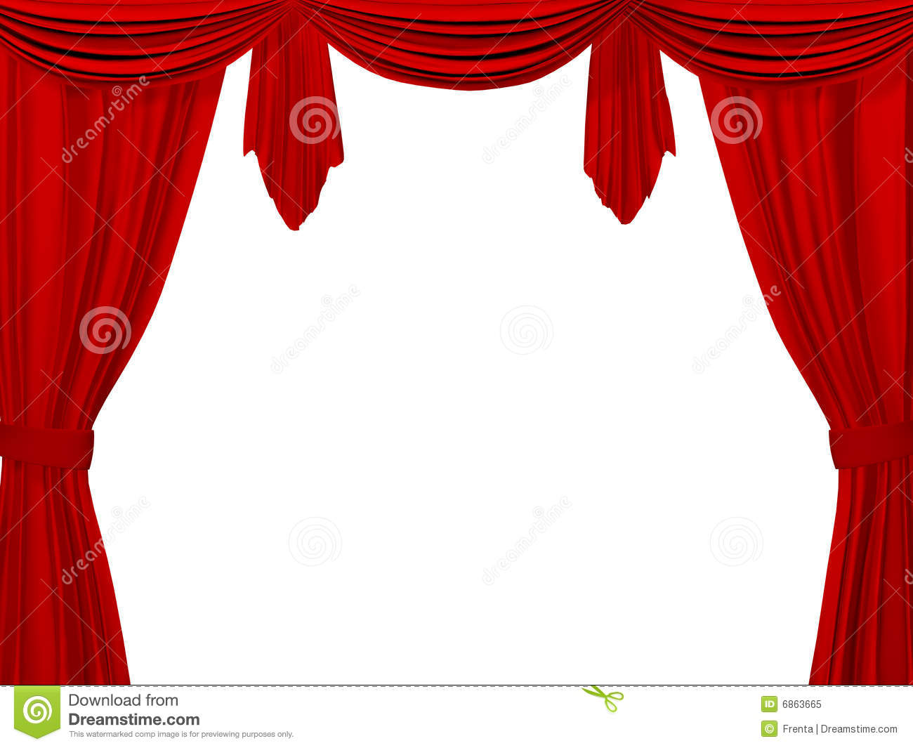 Theatrical Curtain Of Red Color Stock Image
