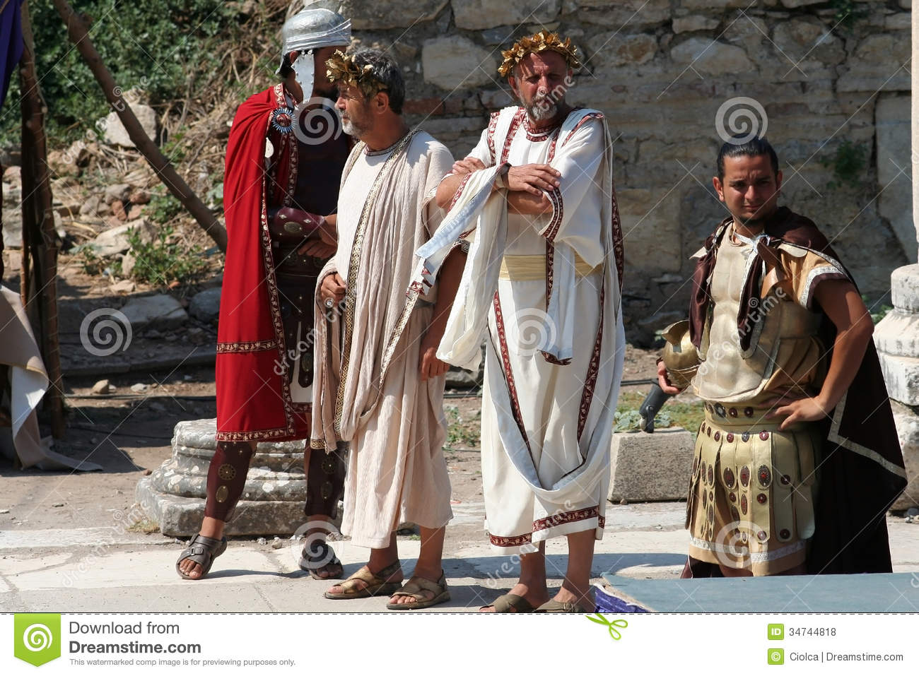 Actors Dressed In Ancient Costumes A Historic Performance Ephesus Turkey Was An Greek City And Later Major Roman