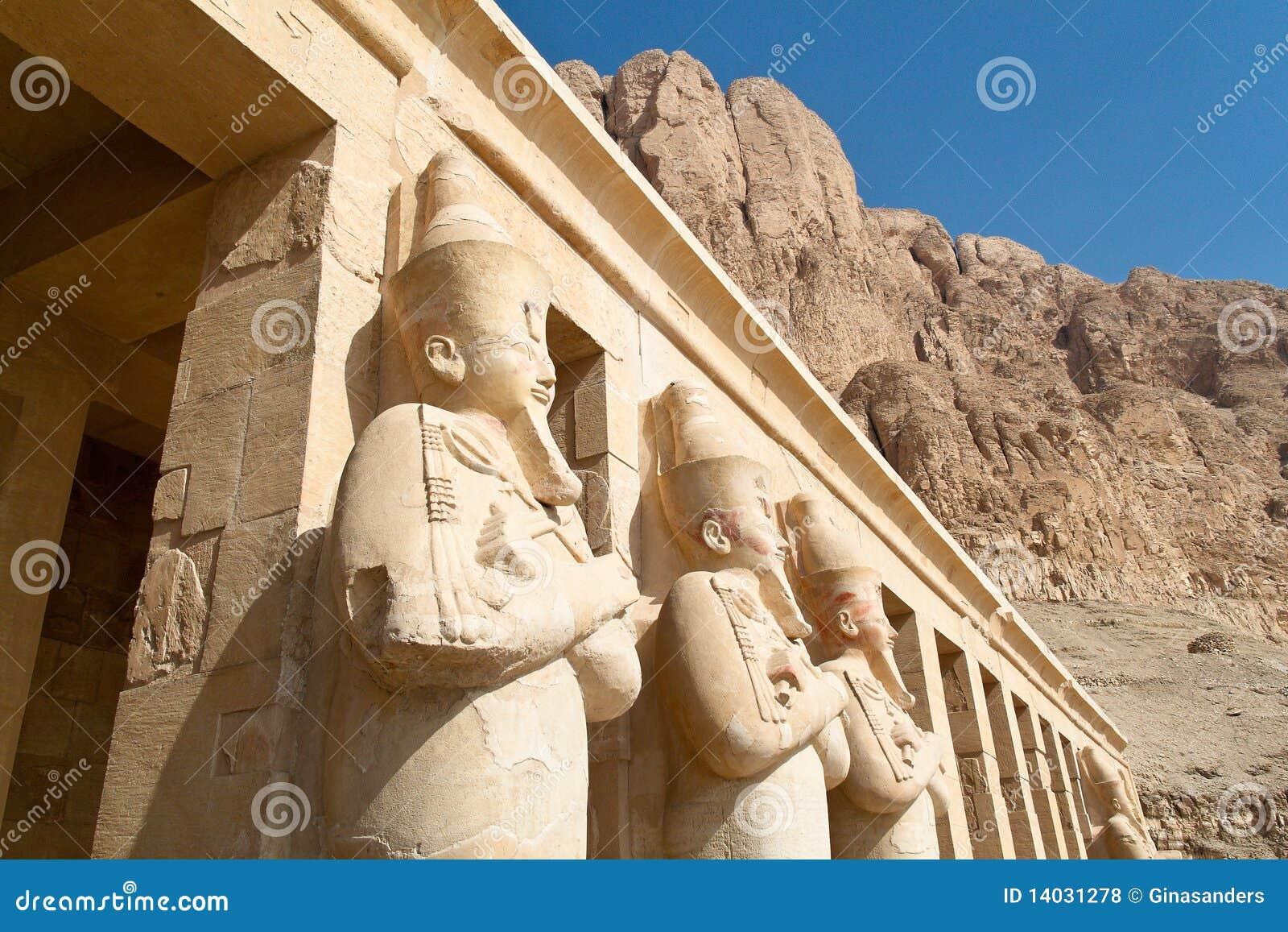 Thebes Египета западные