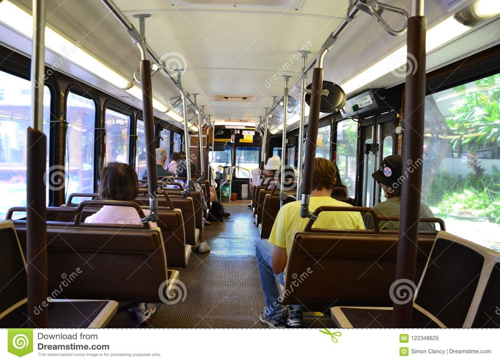 Thebus Public Transportation System In Honolulu Editorial Image Image Of Waikiki Hawaii 122348625