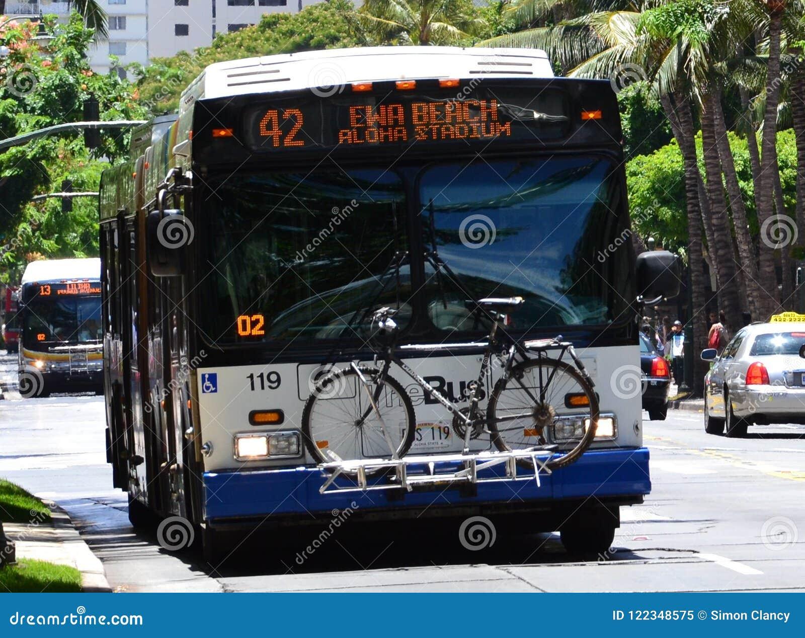 Thebus Public Transportation System In Honolulu Editorial Image Image Of Publictransport Oahu 122348575
