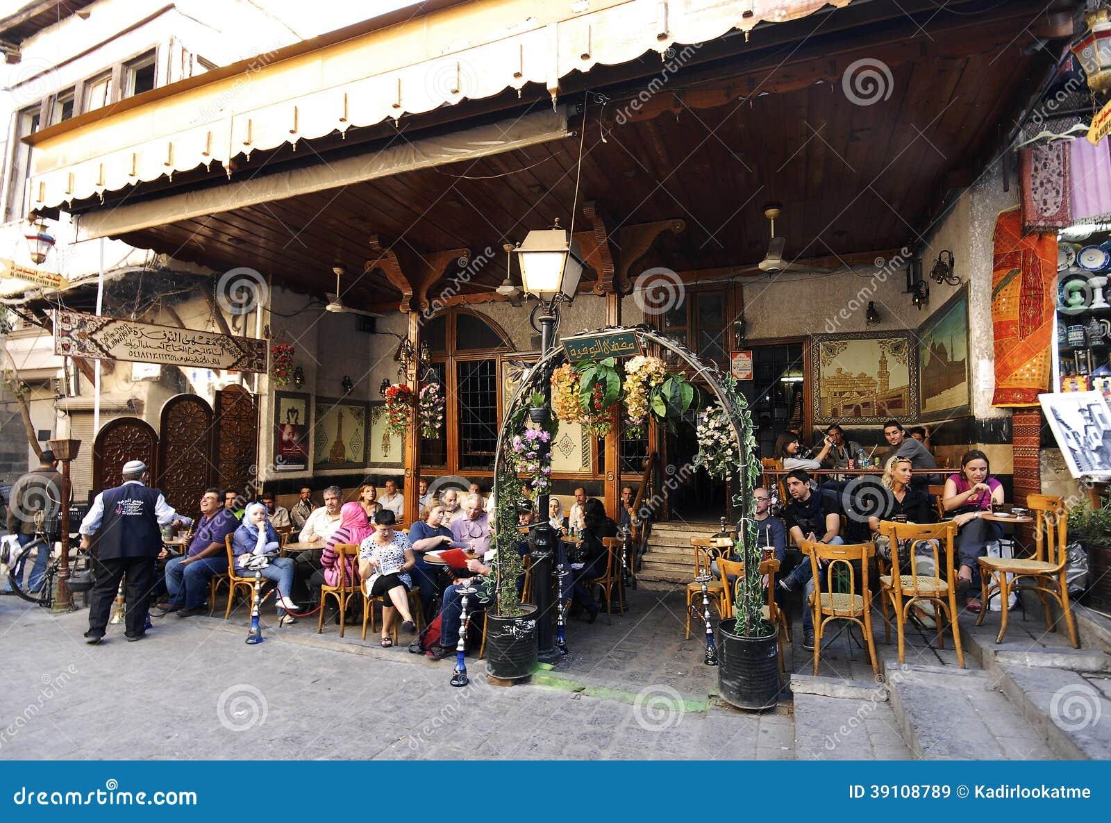 Theehuis en tabakswinkel in Aleppo