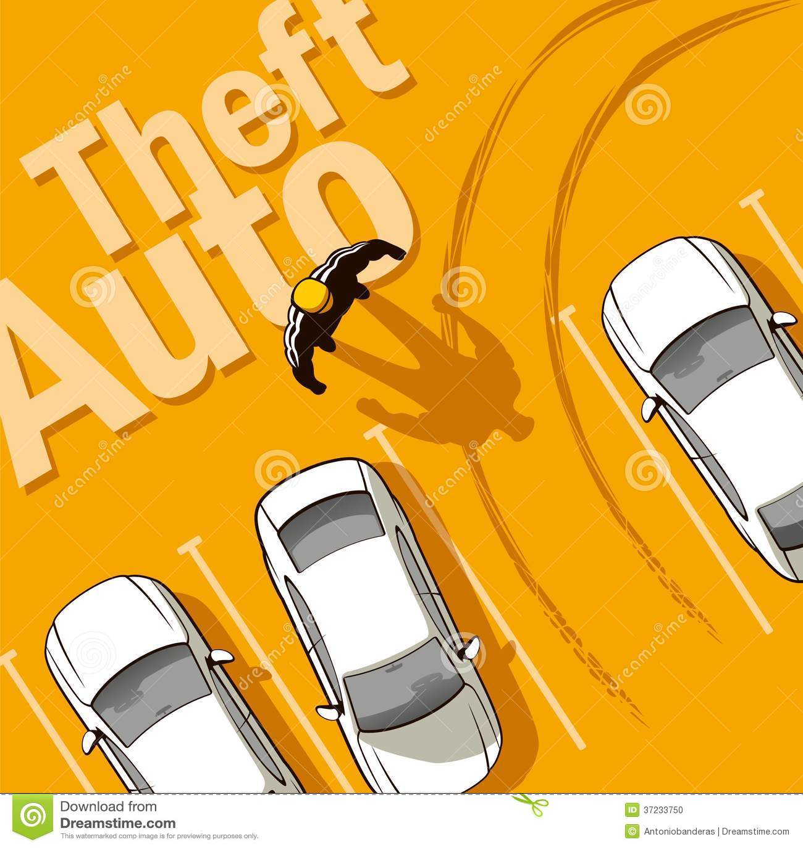 Car Theft Escape Parking: Theft Auto Stock Photo