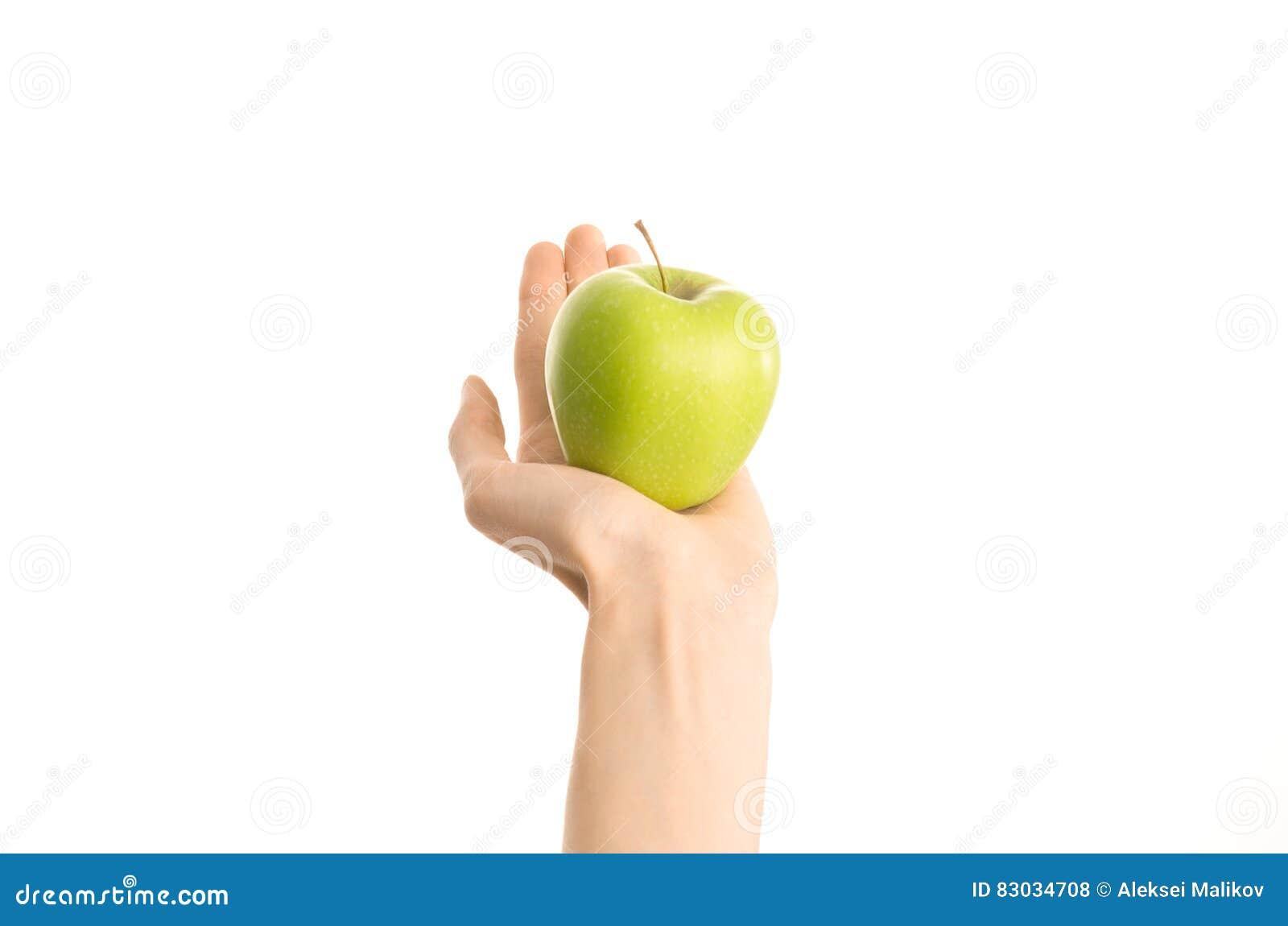 Thema Der Gesunden Ernahrung Und Der Diat Menschliche Hand Die