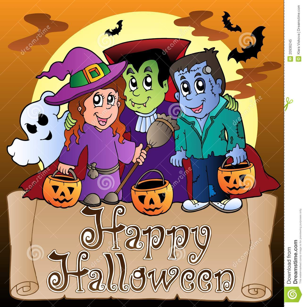 theme with happy halloween banner 3 stock vector - illustration of