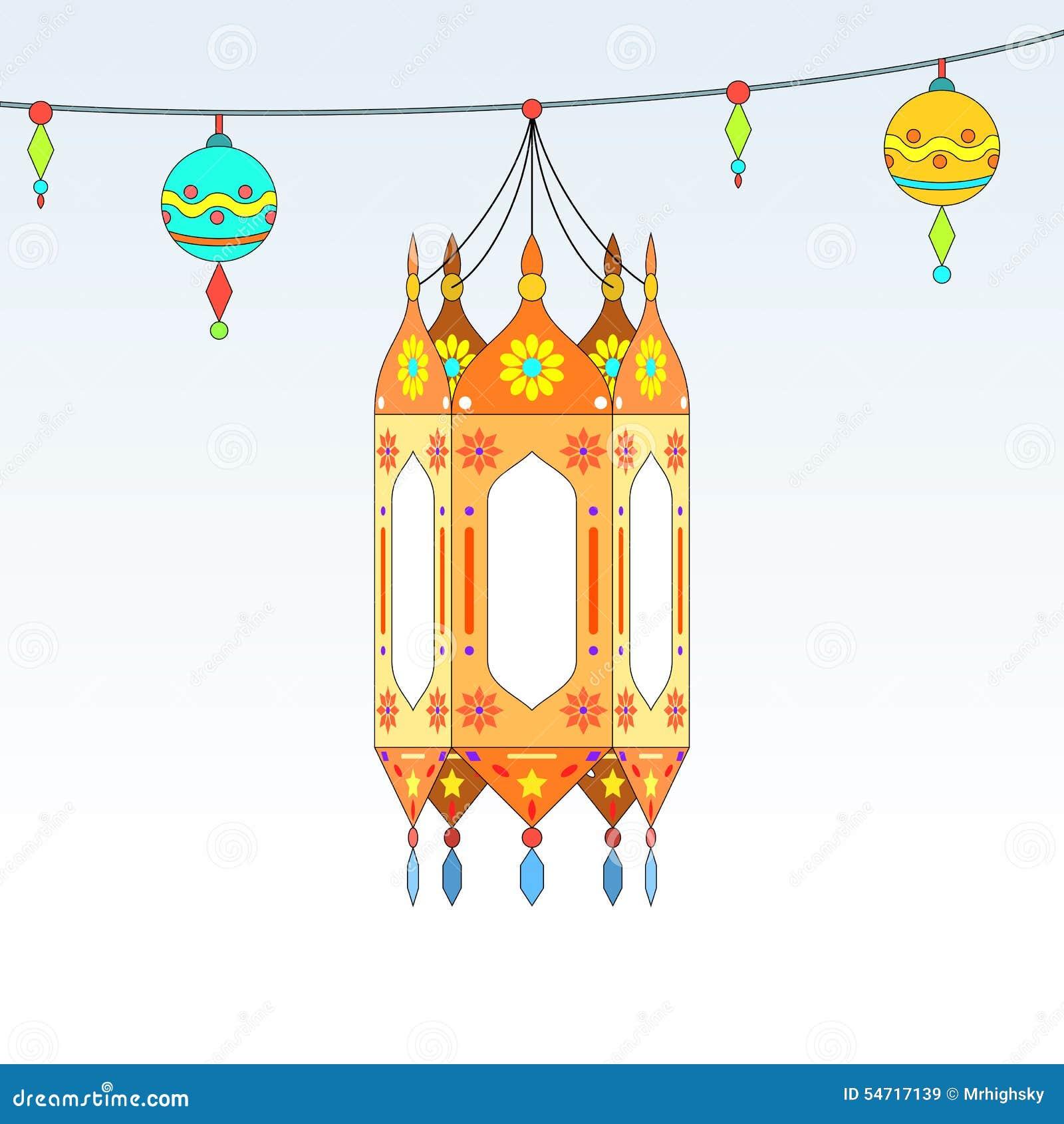 Themed dekorativa lyktor för Ramadan