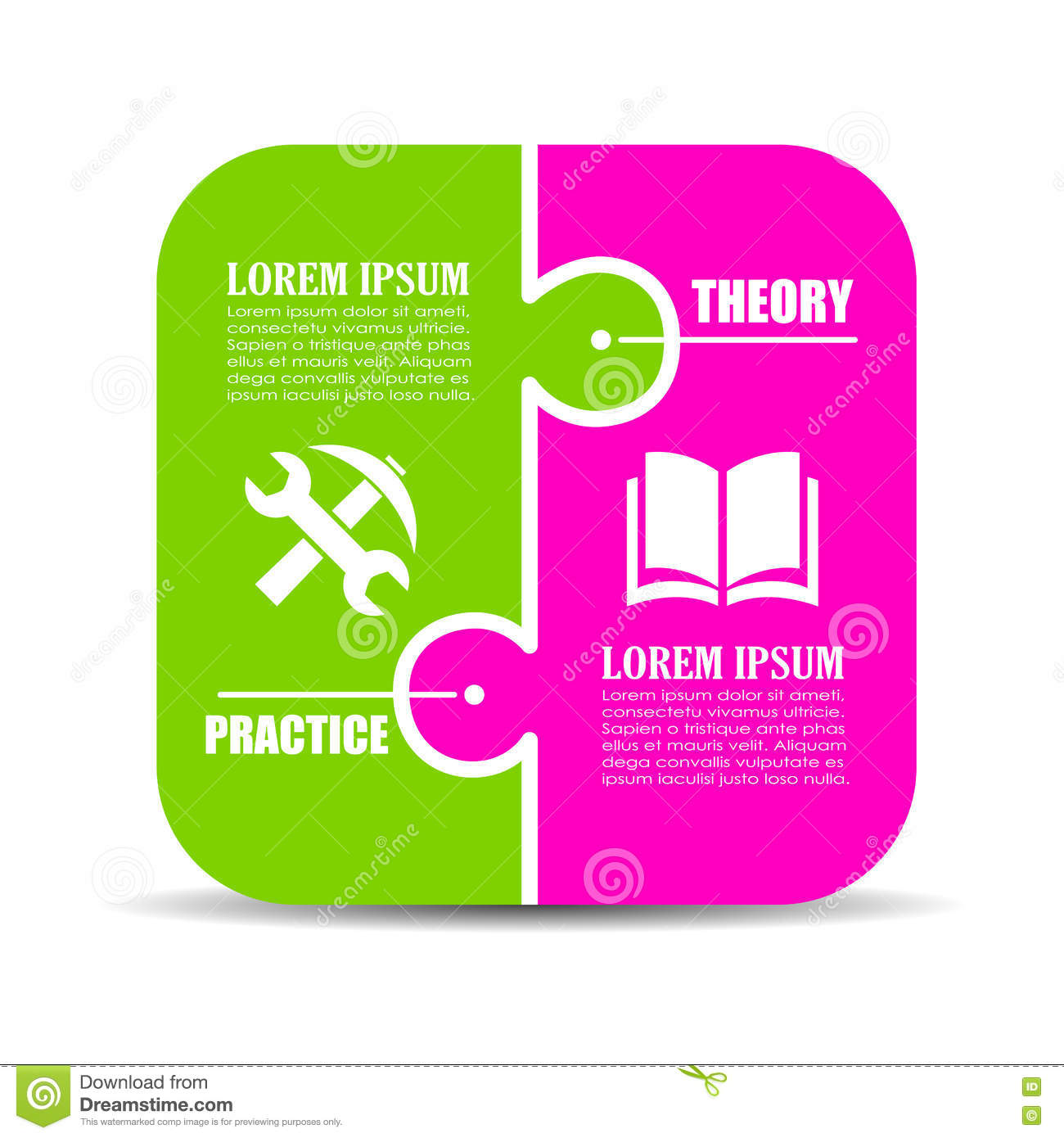 Theory vs practice stock vector illustration of part 76041371 theory vs practice pooptronica Image collections