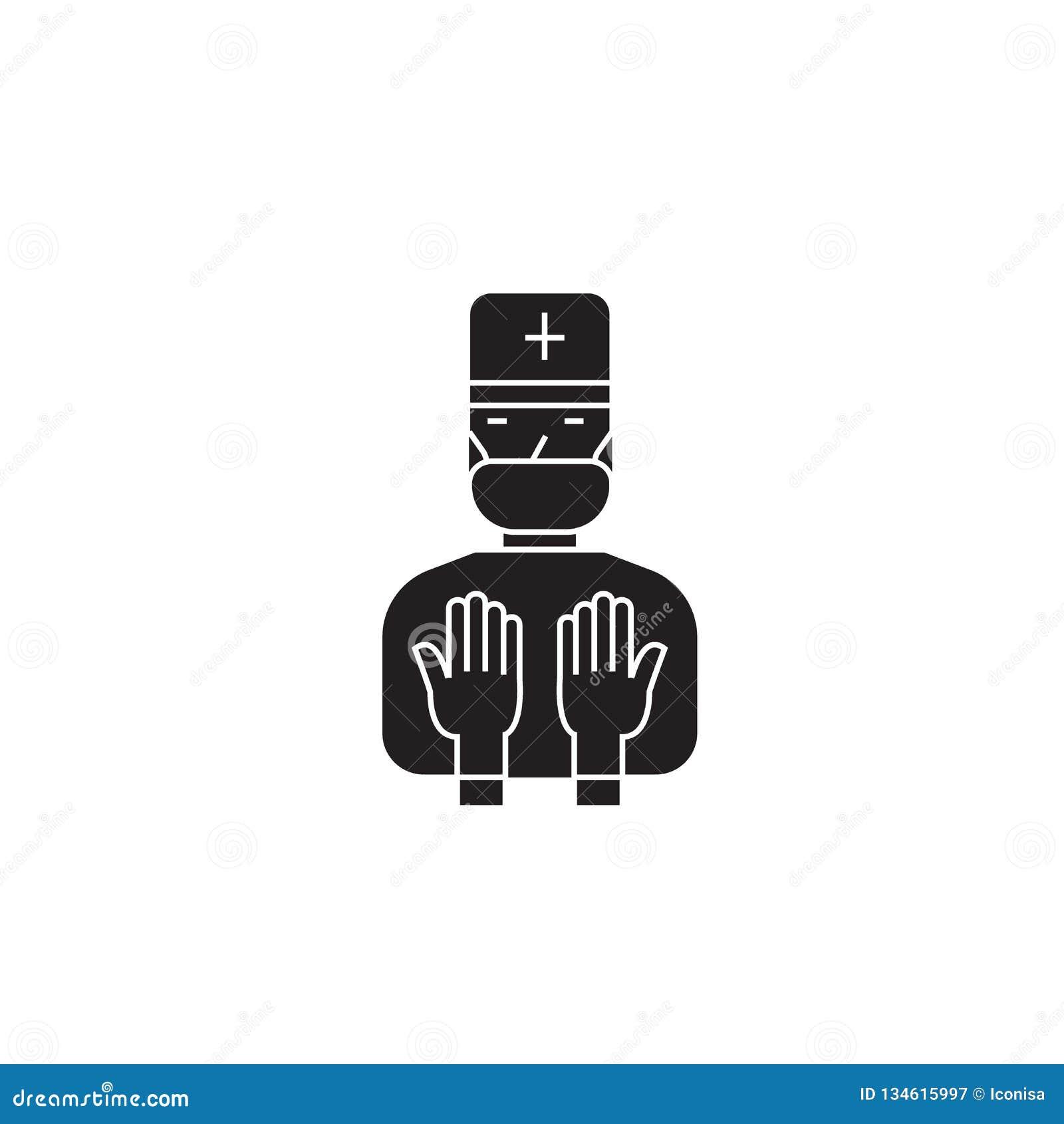 Therapeutic Procedures Black Vector Concept Icon ...
