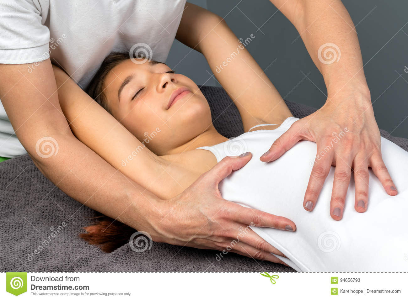 girl massage