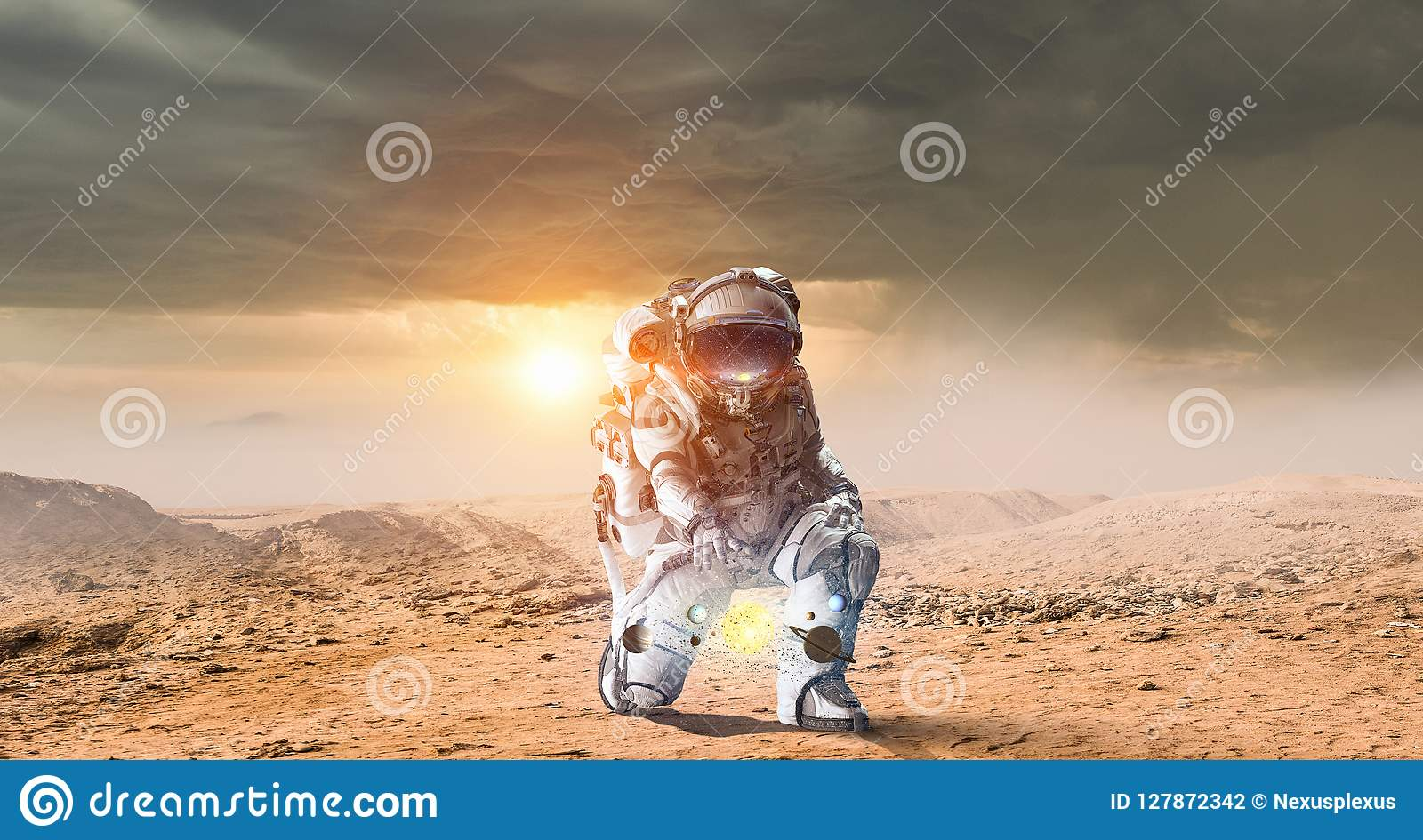There Is Life On Other Planets. Mixed Media Stock Photo ...