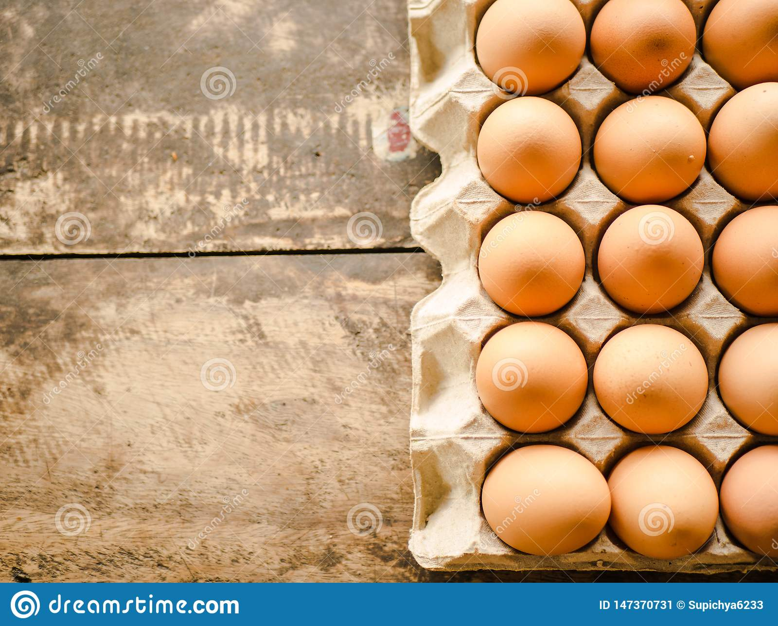 There are a lot of eggs.