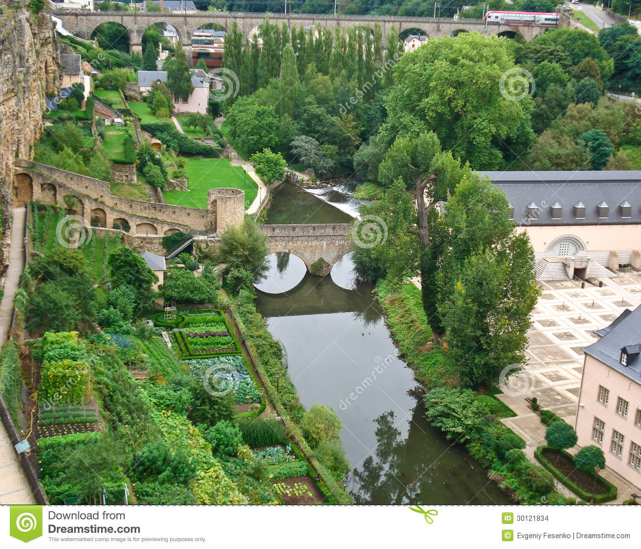 The kitchen gardens in luxembourg stock images image for Small kitchen garden