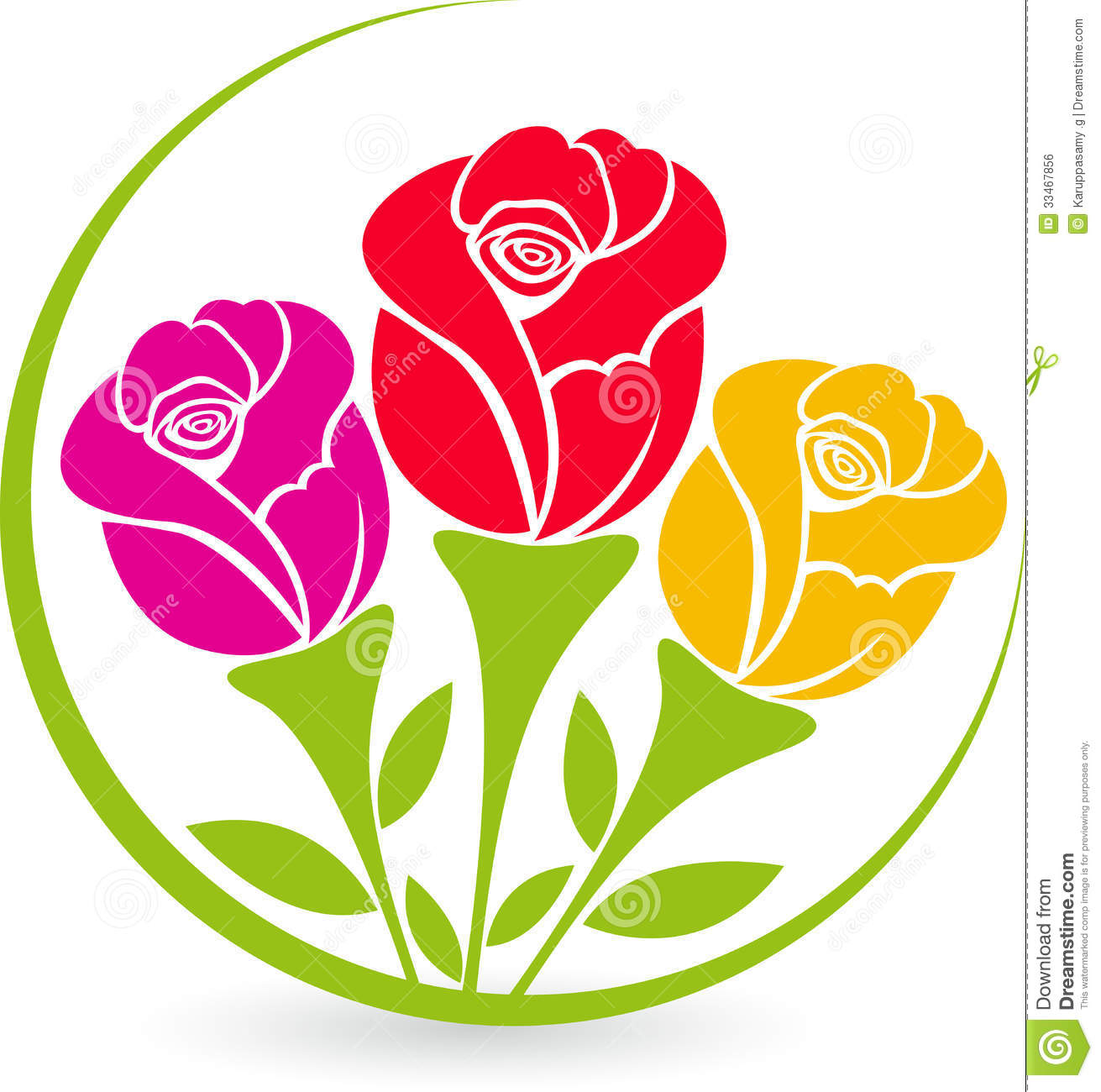 There Roses Logo Royalty Free Stock Image - Image: 33467856