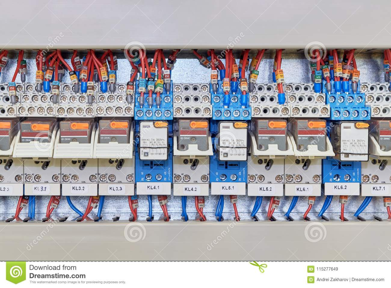 There Are Several Intermediate Relays Installed In A Range The Relay Circuit Numbers Electrical Cabinet