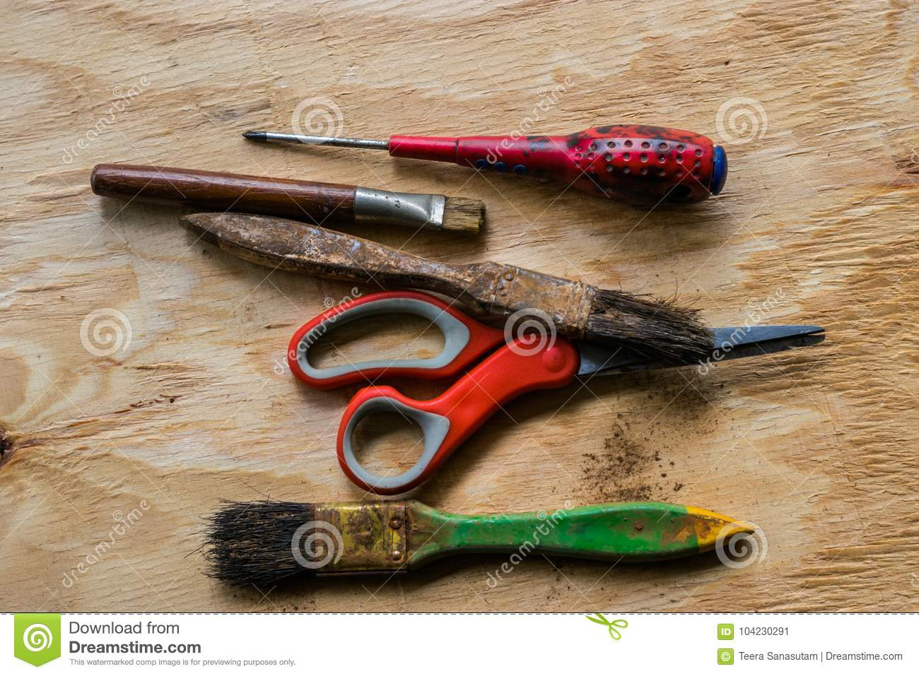 Craftsman Tool Ready To Work On The Wood Stock Image Image Of