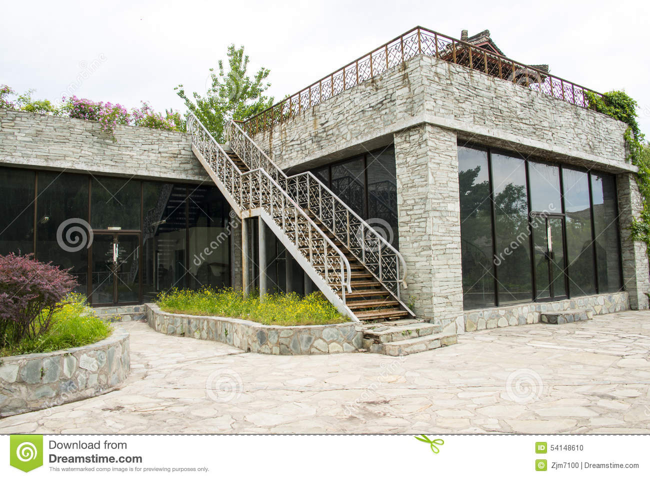 There Are Stairs Outside The House Editorial Image Image Of