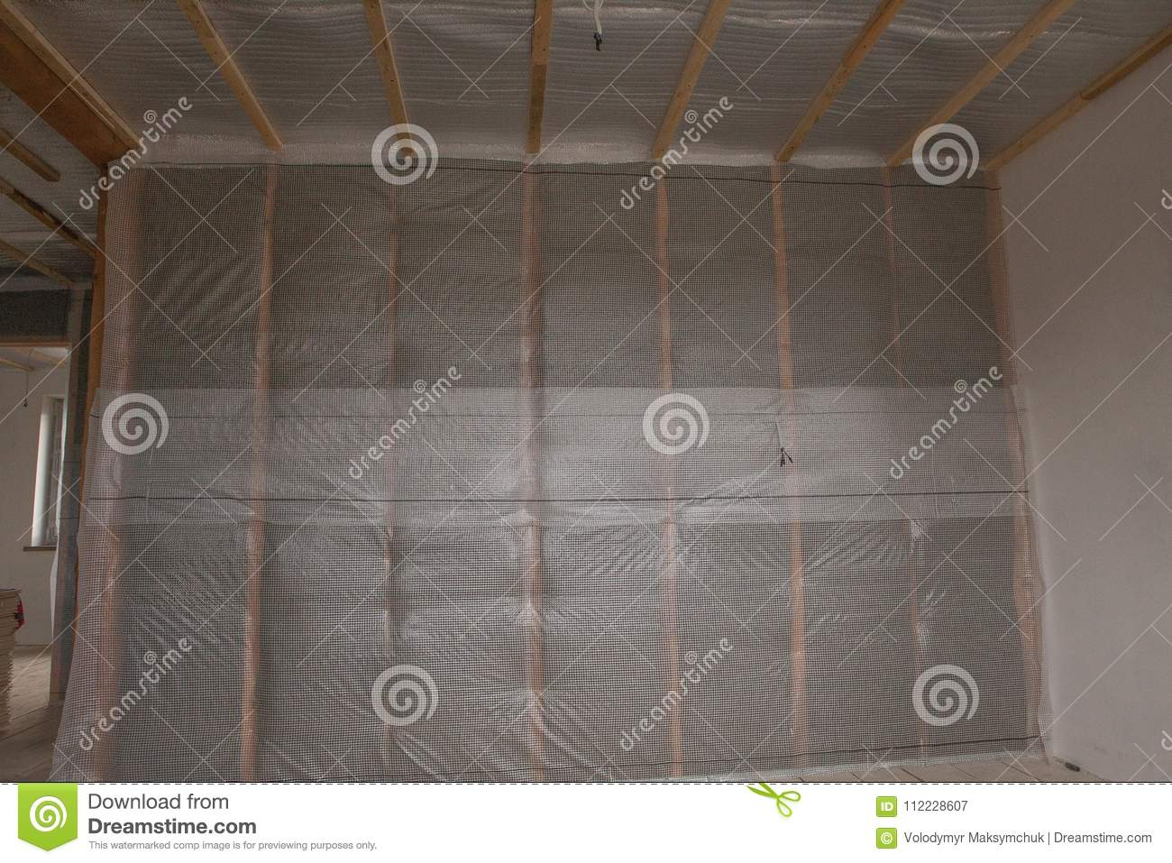 Thermal and hidro insulation wall insulation construction new residential home