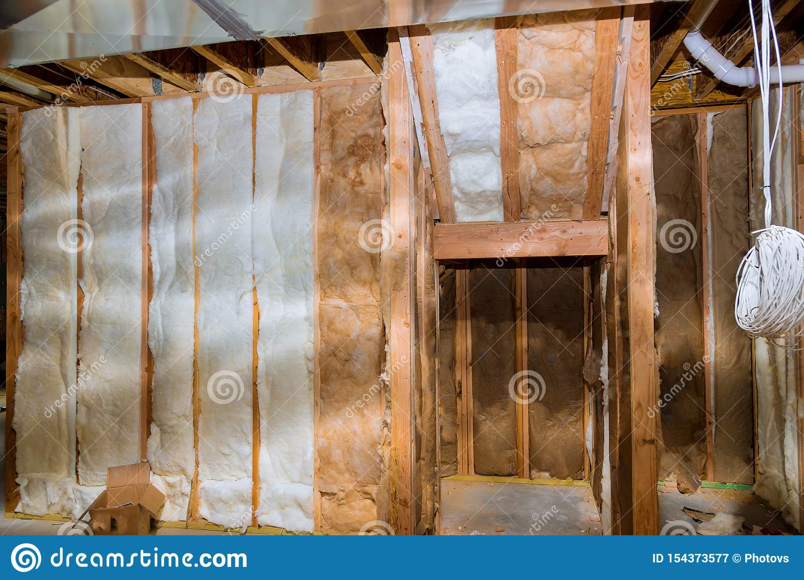 Image of: Thermal Insulation With House Construction Site Basement Walls Stock Image Image Of Heat Concrete 154373577