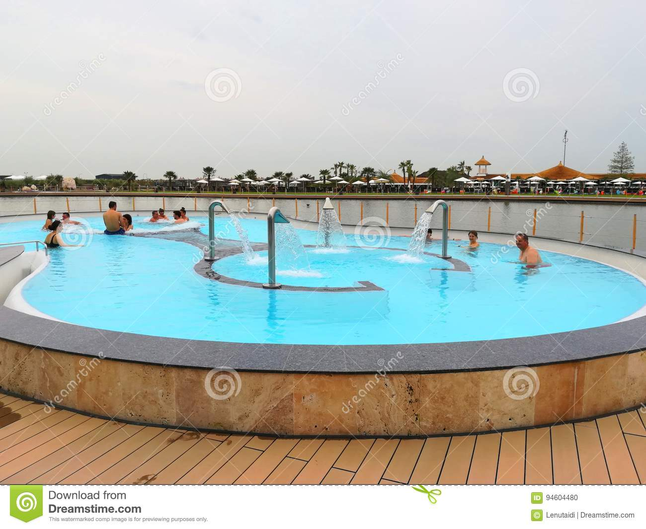 Thermal pool outdoor