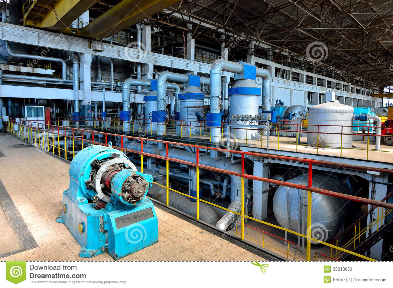 Thermal Power Plant 11 Stock Photo Image 33213050