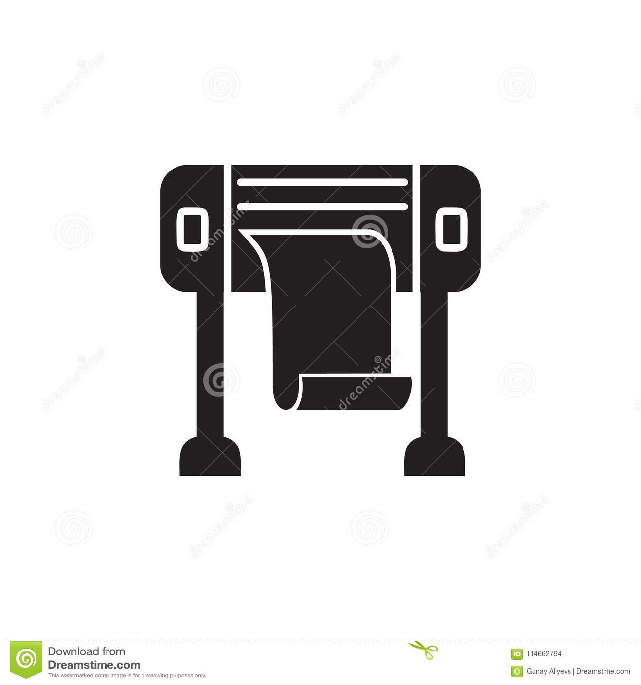 Thermal Printer Icon  Element Of Printing House Illustration