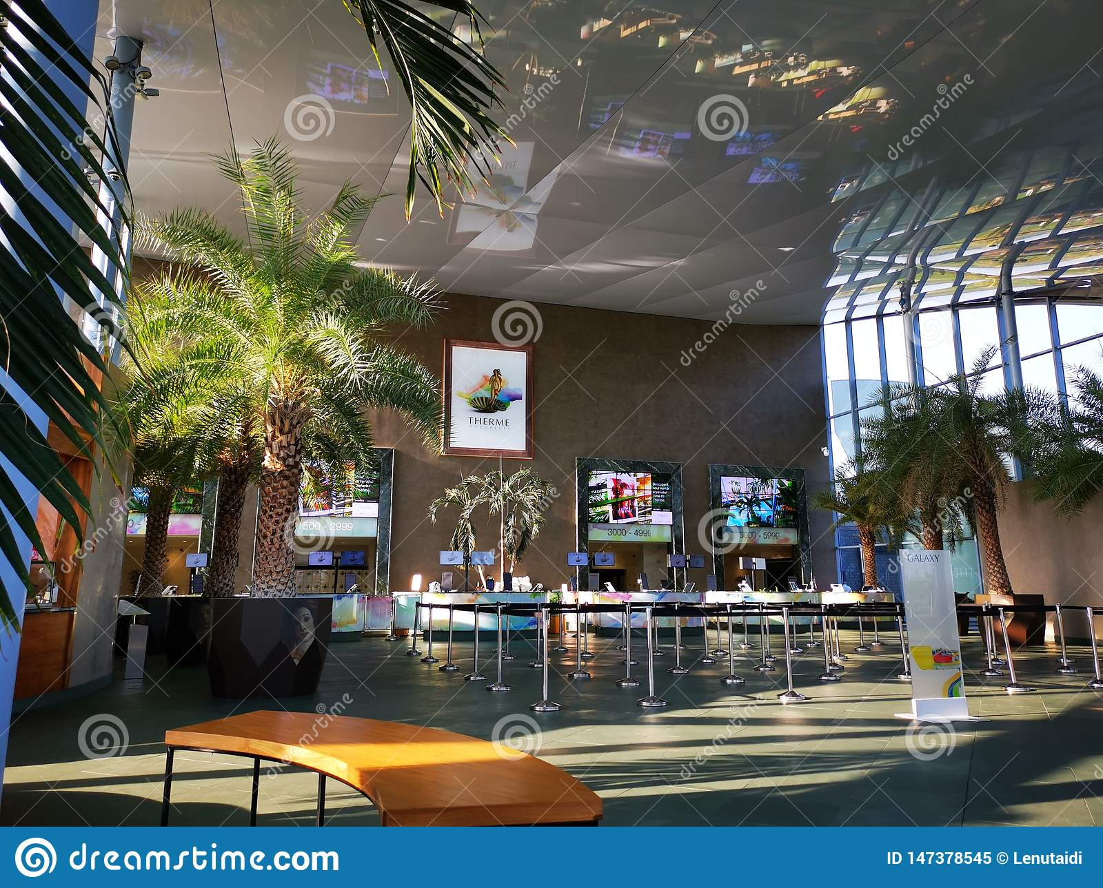 Therme Bucharest, Romania - entry indoor