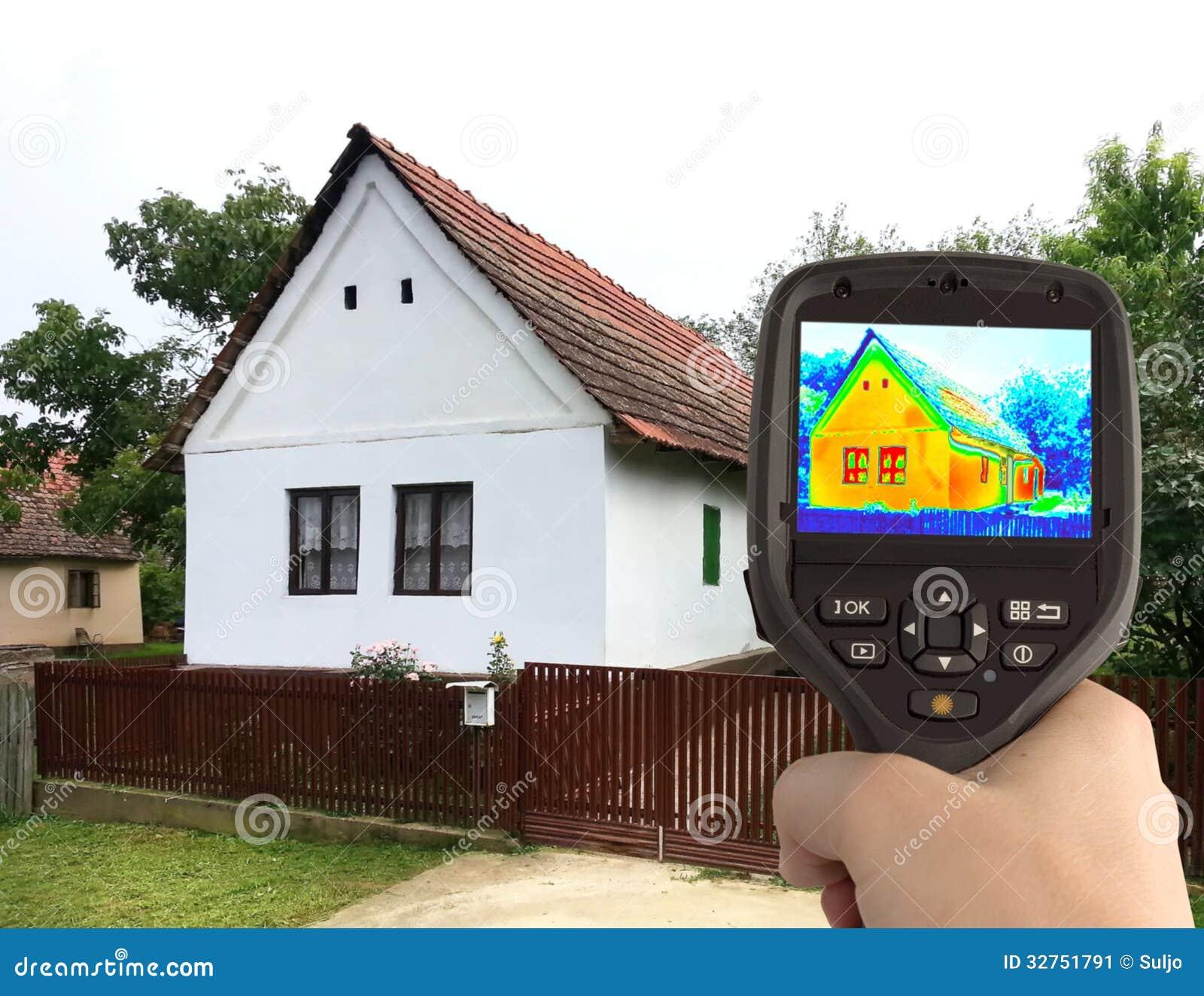 Thermisch beeld van het oude huis stock afbeelding afbeelding 32751791 - Beeld van eigentijds huis ...